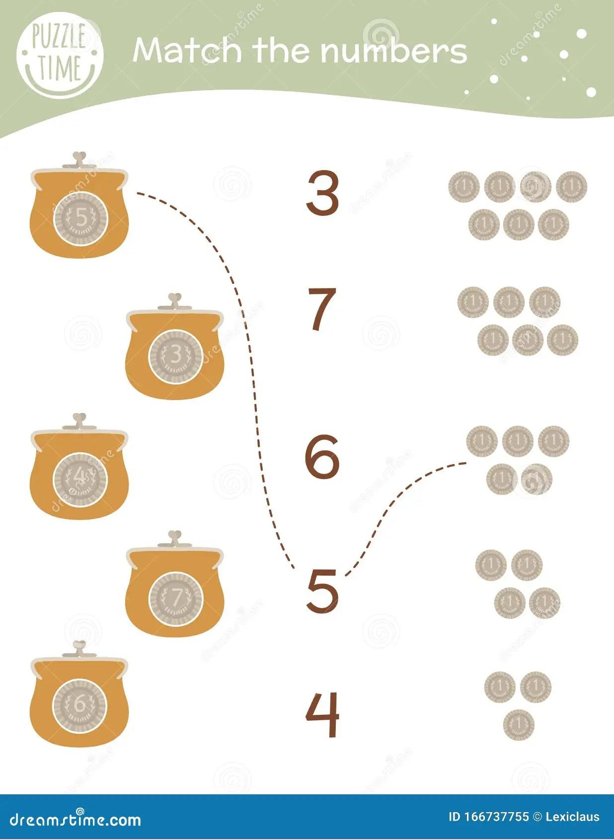 Preschool Worksheet Gallery Preschool Coin Matching Worksheet