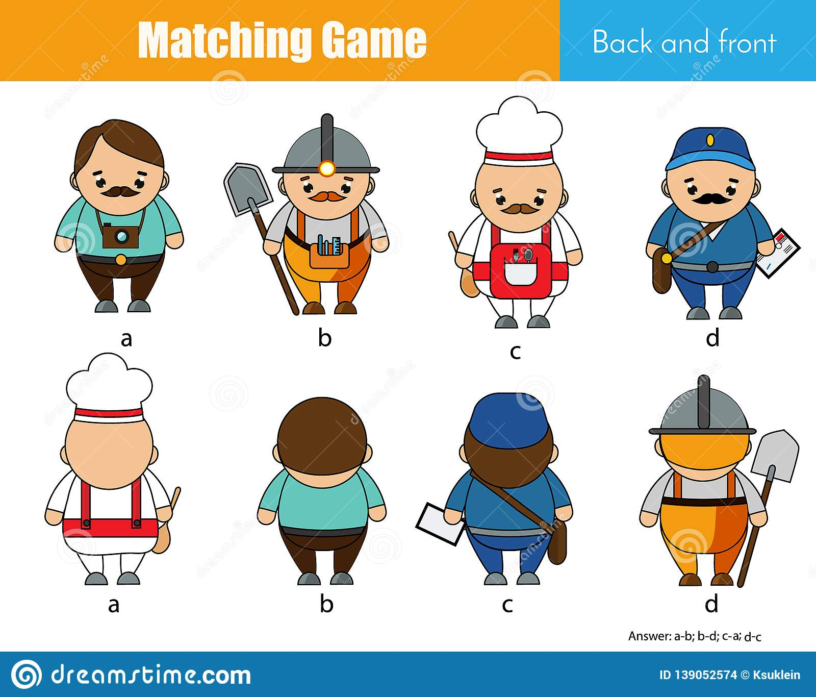 Matching Game Educational Children Activity Learning