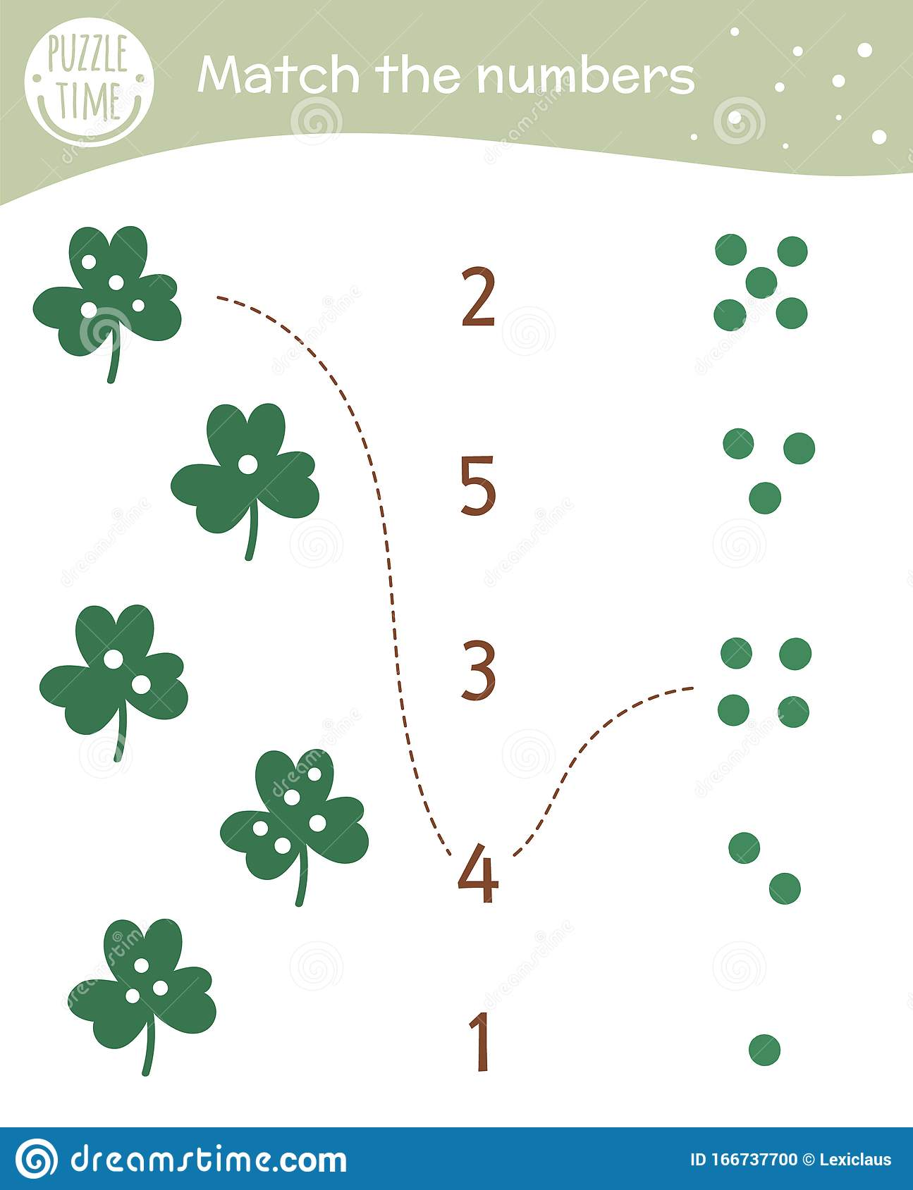 Matching Game With Shamrock Leaves Saint Patrick S Day