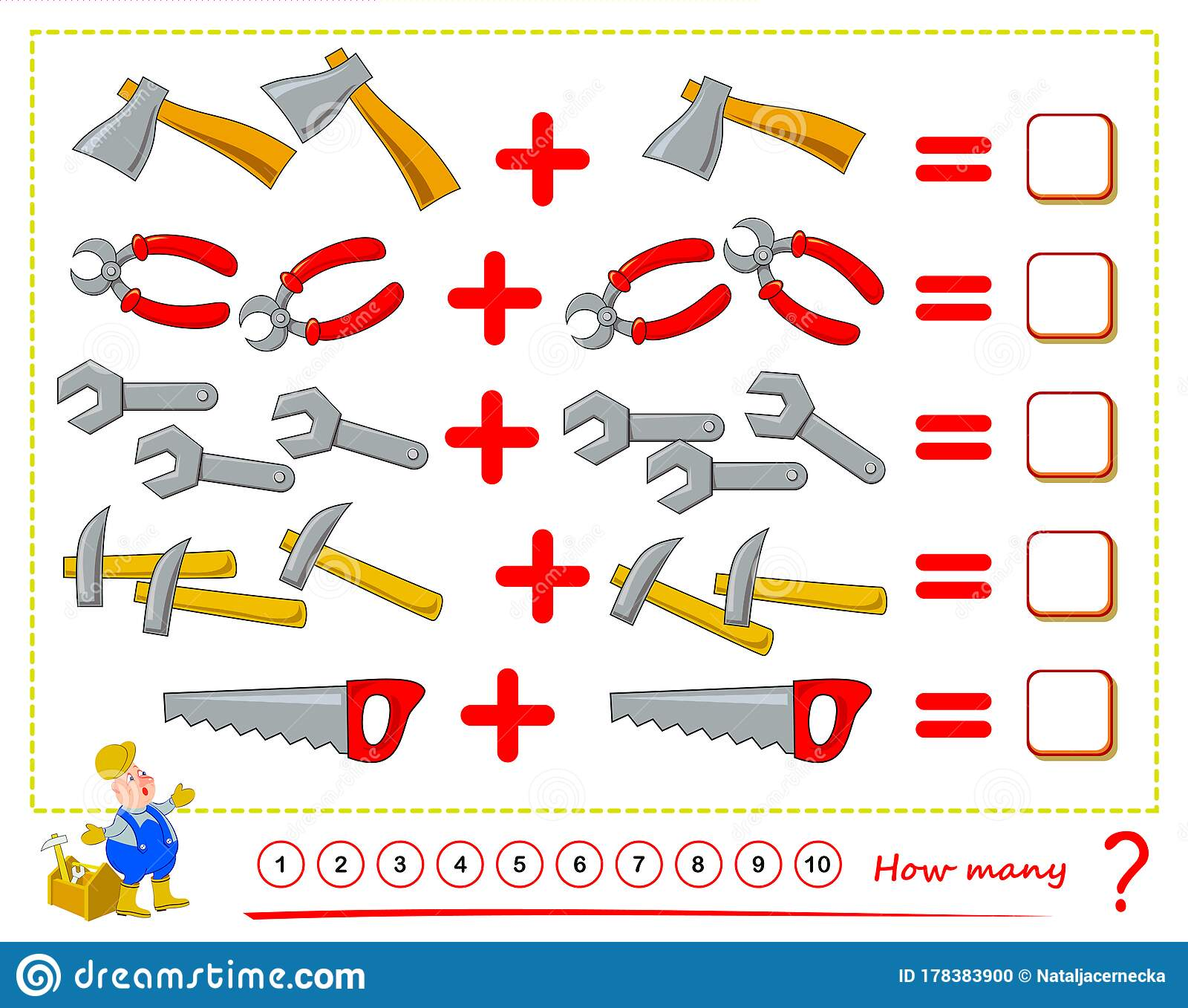 Math Education For Children Count The Quantity Working