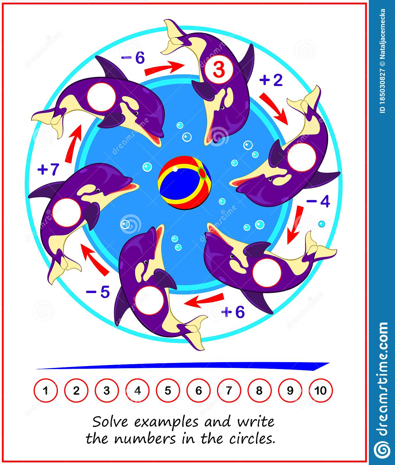 Math Educational Game For Children On Addition And