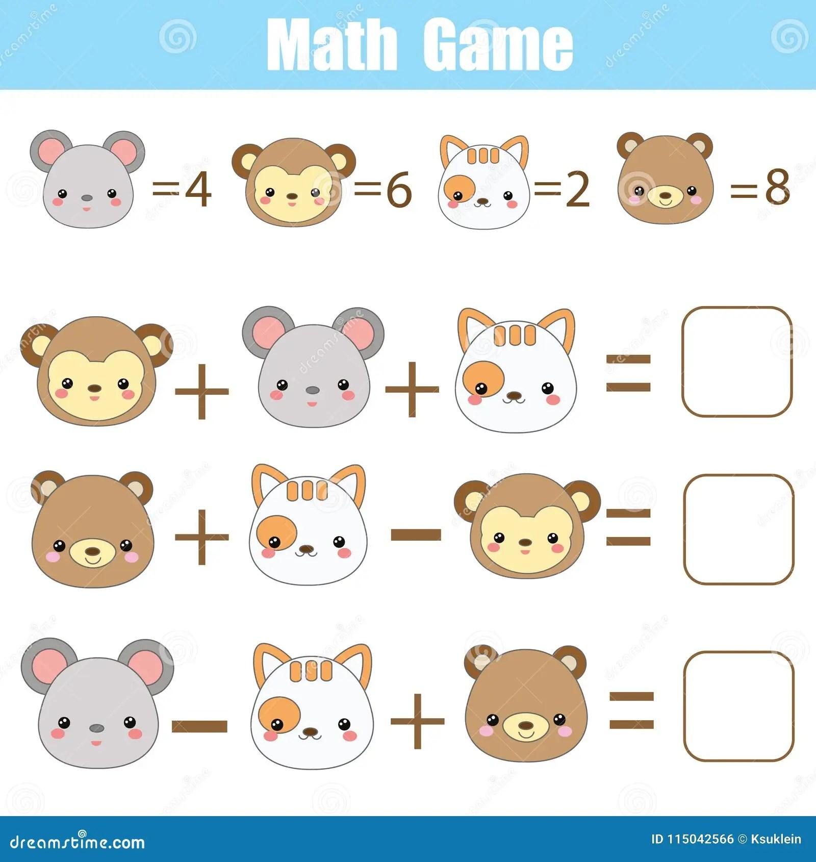 Face Math Worksheet