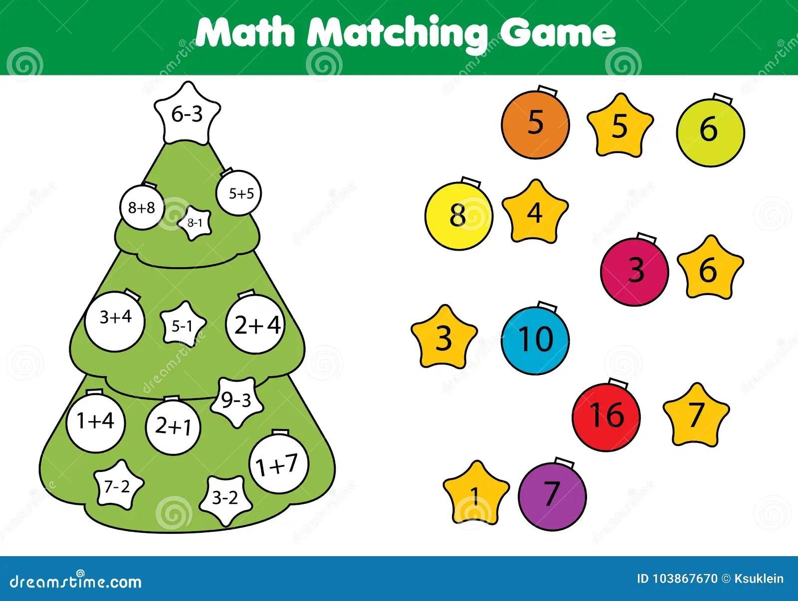 Math Educational Game For Children Matching Mathematics