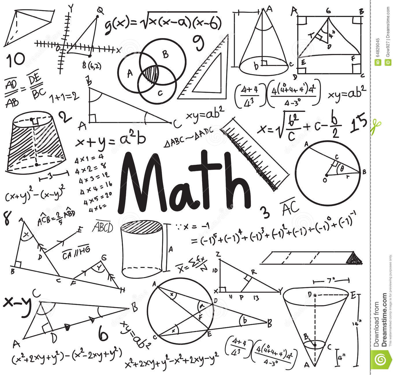 Math Equation Stock Photography