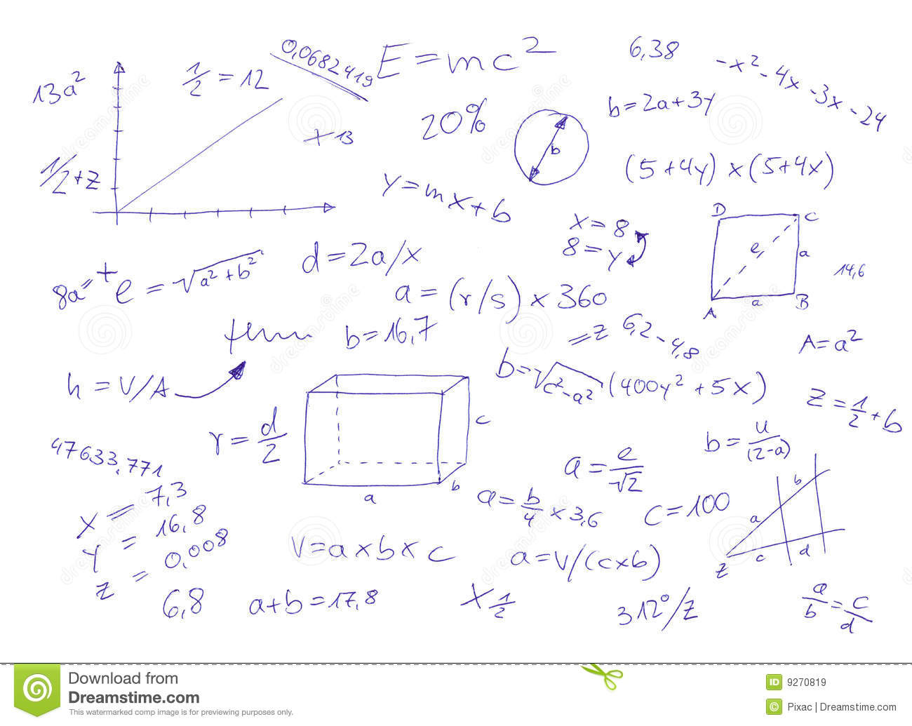 Mathematical Equations Royalty Free Stock Images