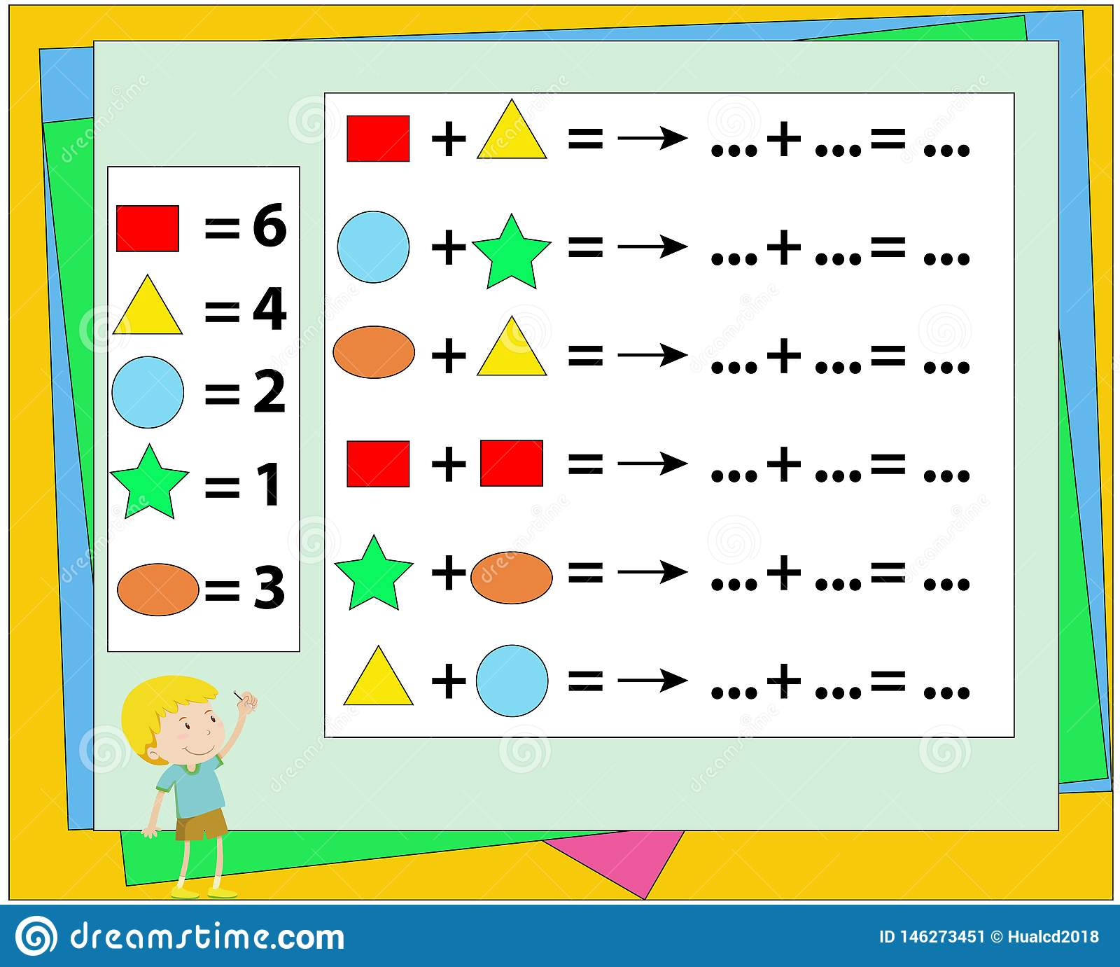 Mathematical Puzzle Game Learning Mathematics Tasks For
