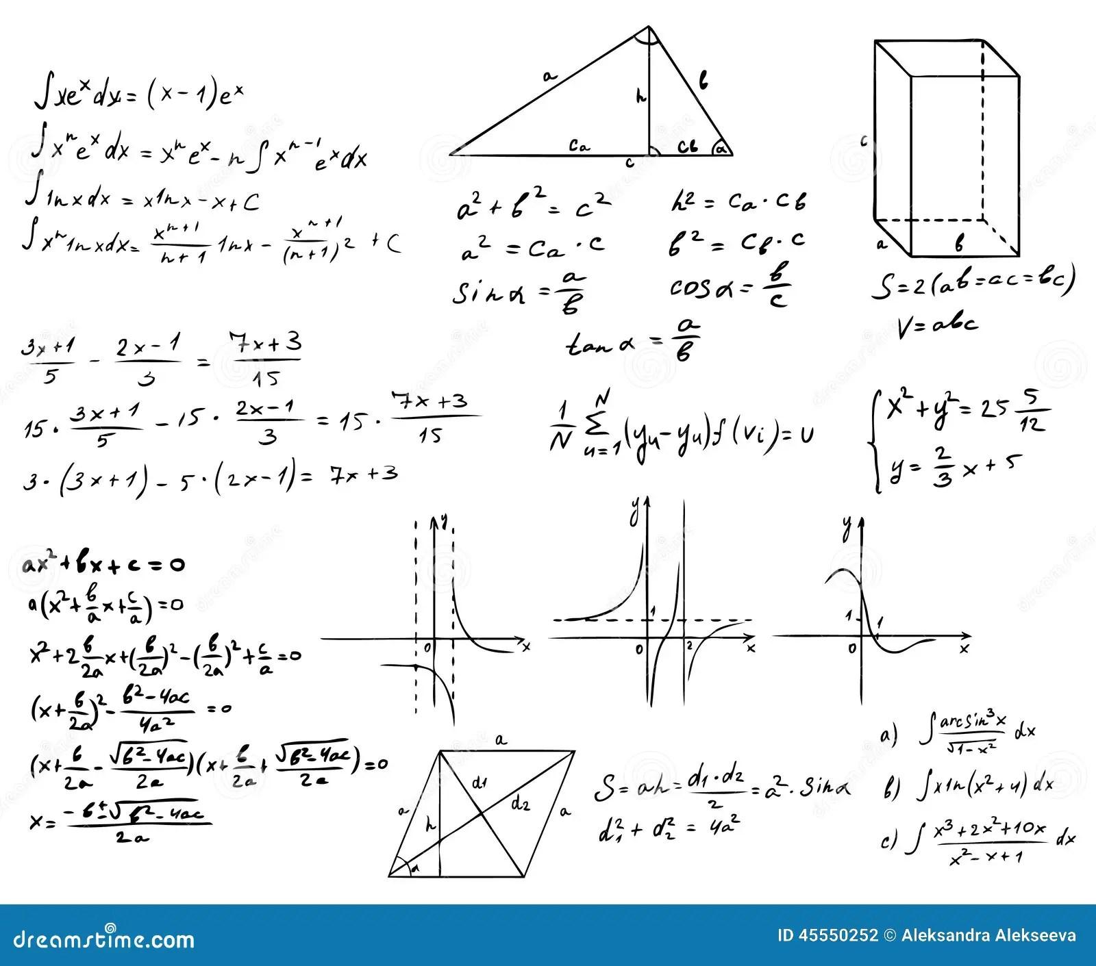 Mathematics And Geometry Set Stock Vector