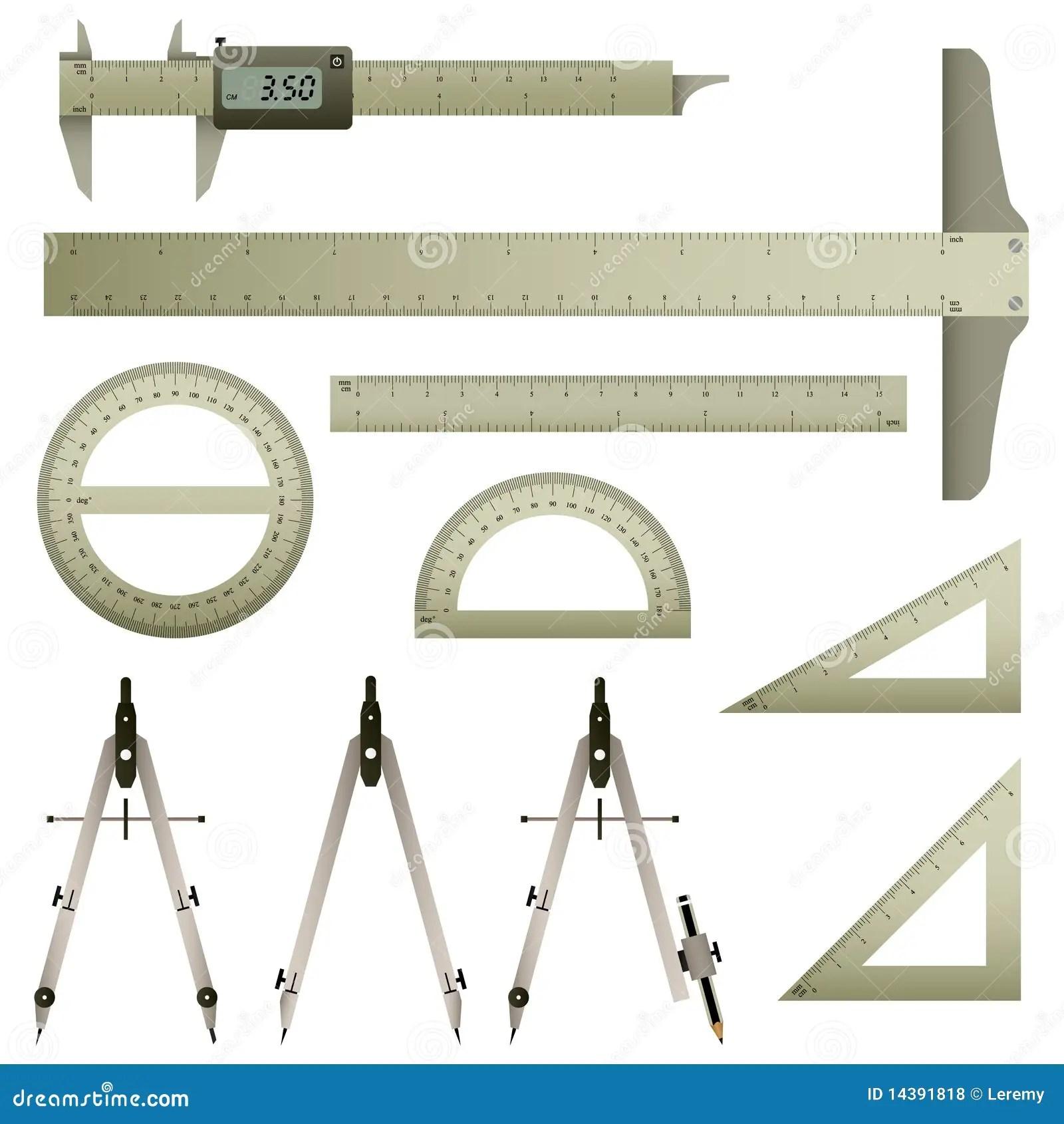 Mathematics Measurement Instrument Royalty Free Stock