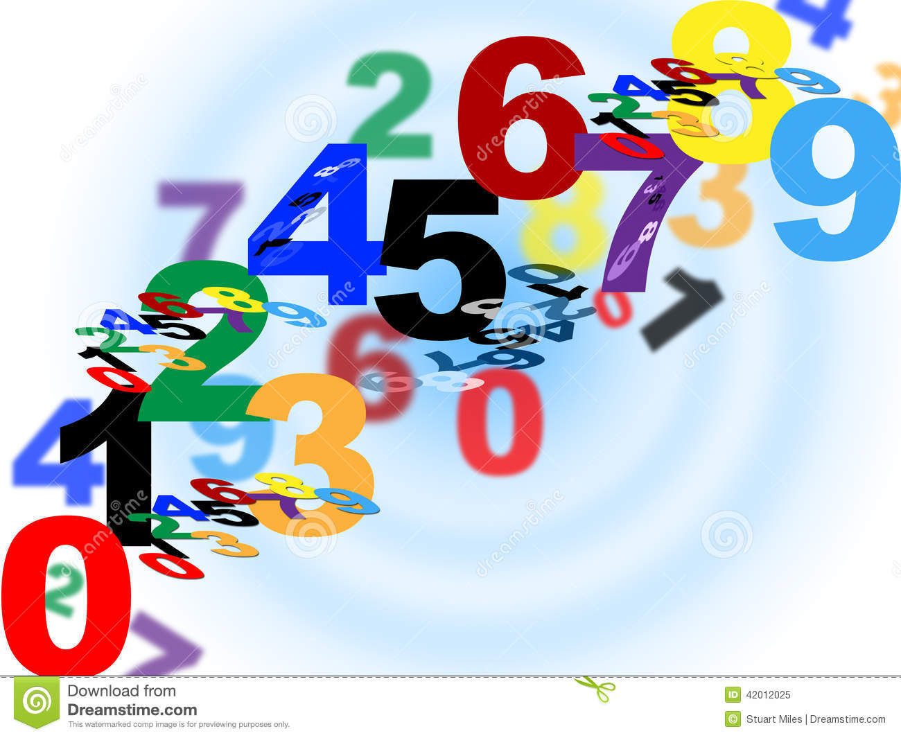 Maths Counting Means Numerical Number And Template Stock Illustration