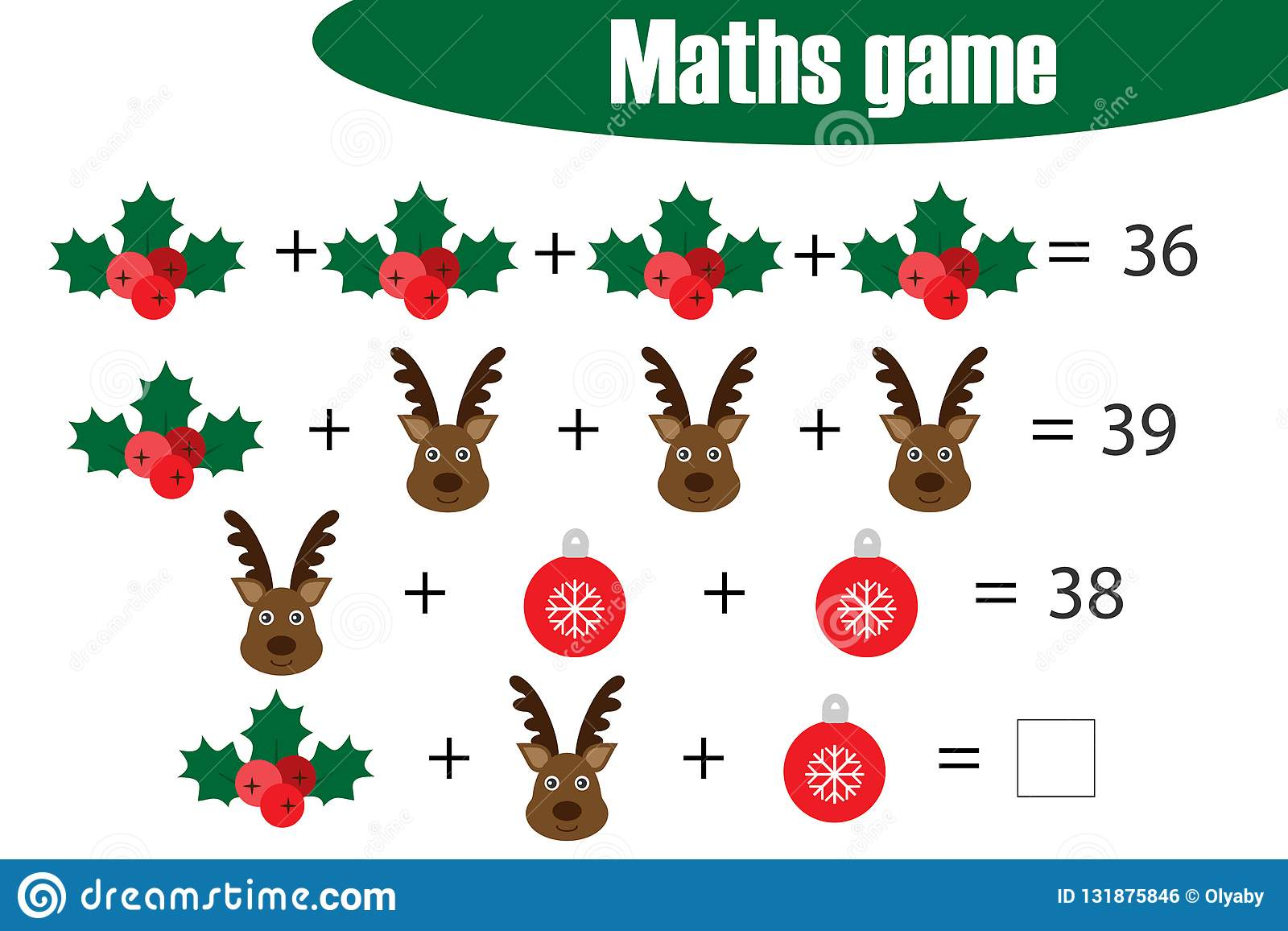 Maths Game With Pictures