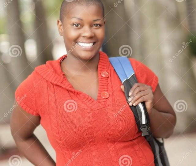 Mature Black Student Smiling
