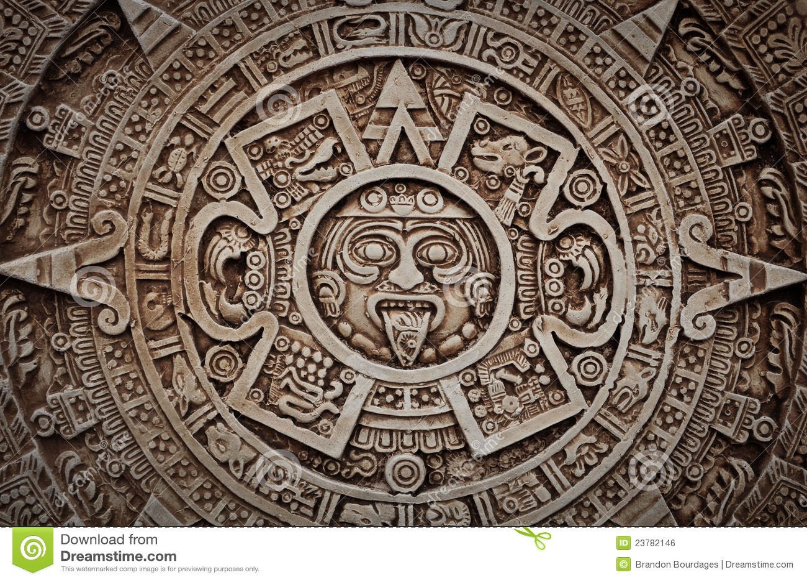 Mayan Calendar Royalty Free Stock Image Image 23782146