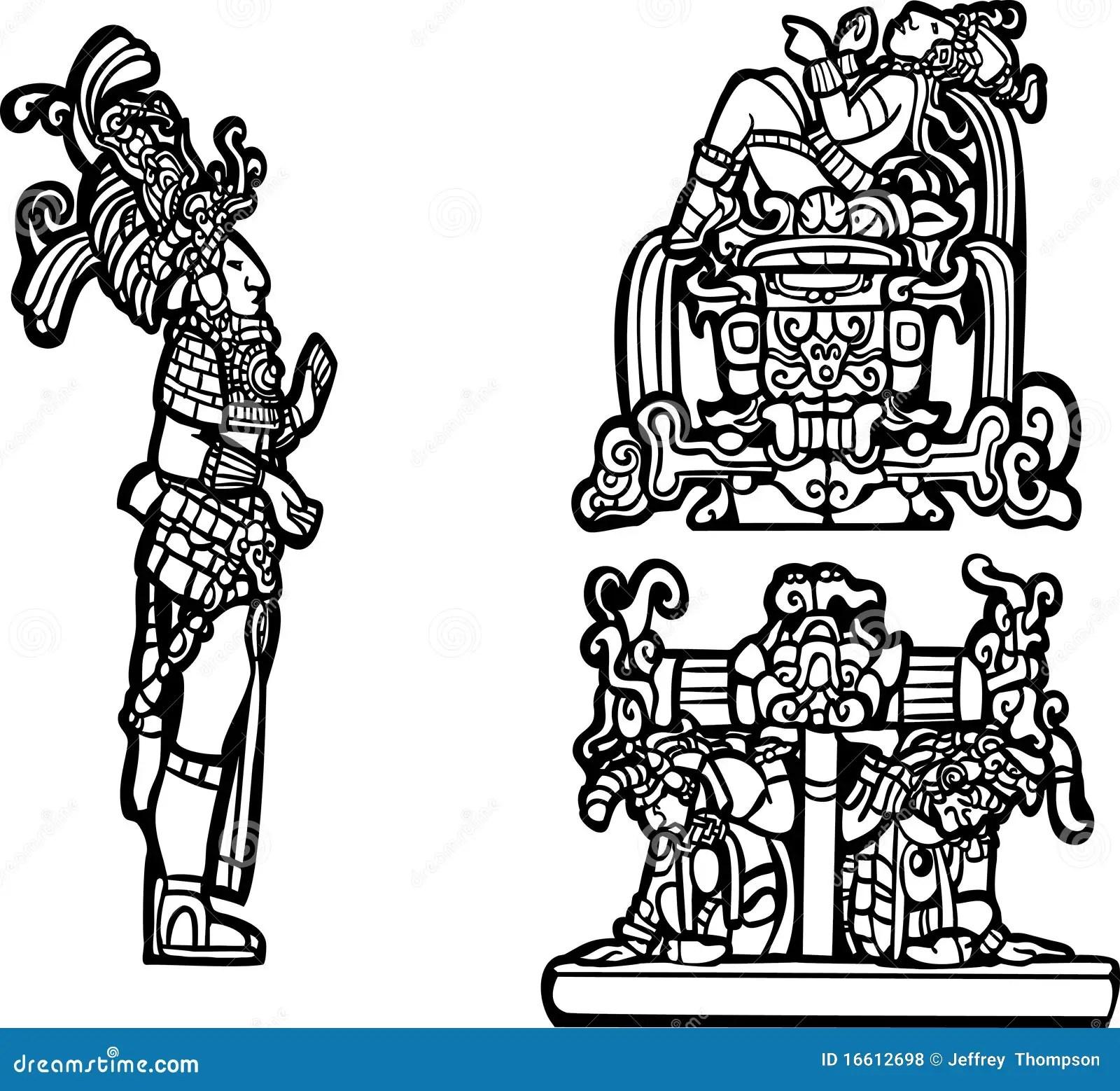 Mayan Group C Stock Vector Image Of Jungle Headdress