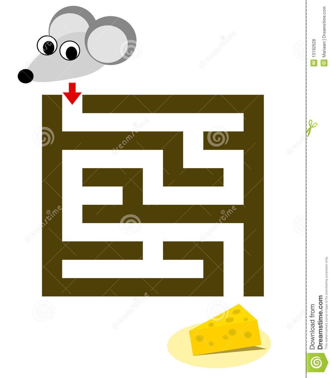 Maze For Children With Mouse Amp Cheese Stock Illustration