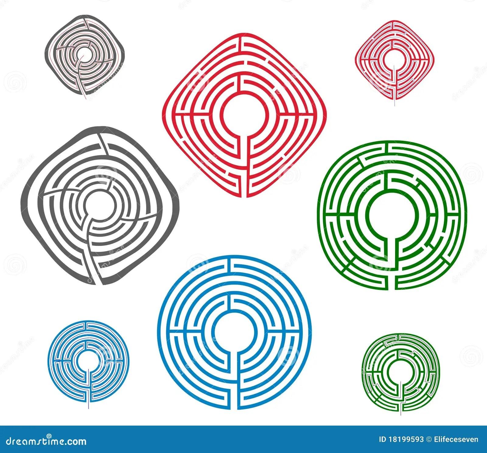 Maze Game Activity Page Cartoon Vector