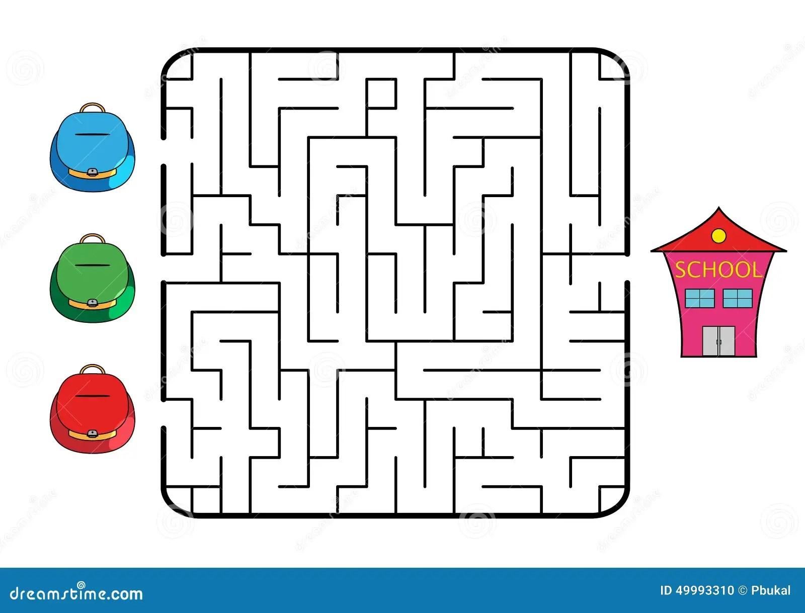 Maze Stock Vector Illustration Of Decision Enter Back