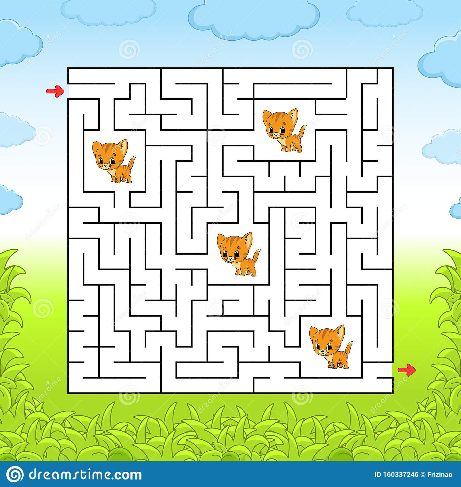 Maze Game For Children Funny Labyrinth Onderwijs