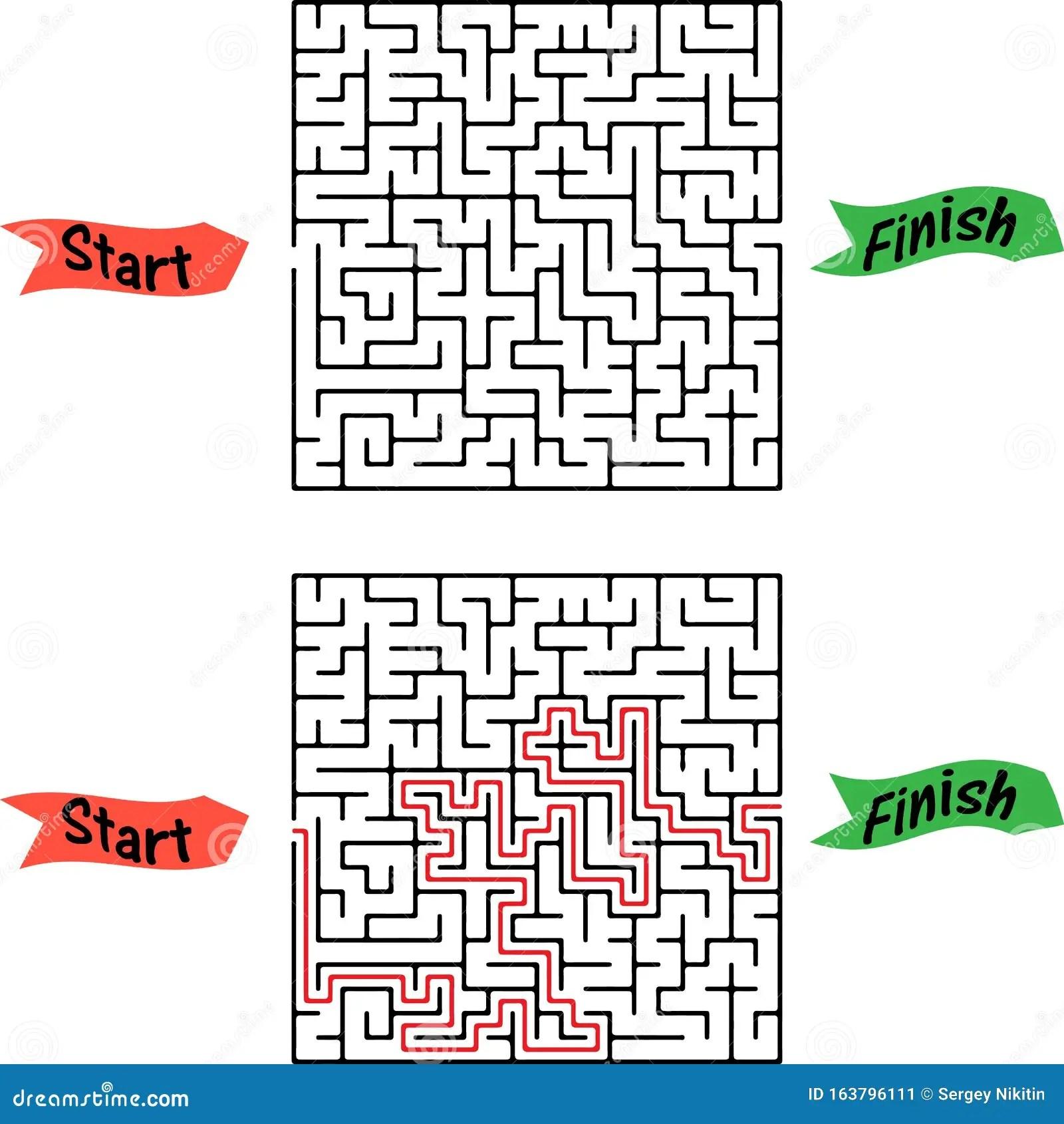 Maze Game Pick Fruits Box Worksheet For Education Stock