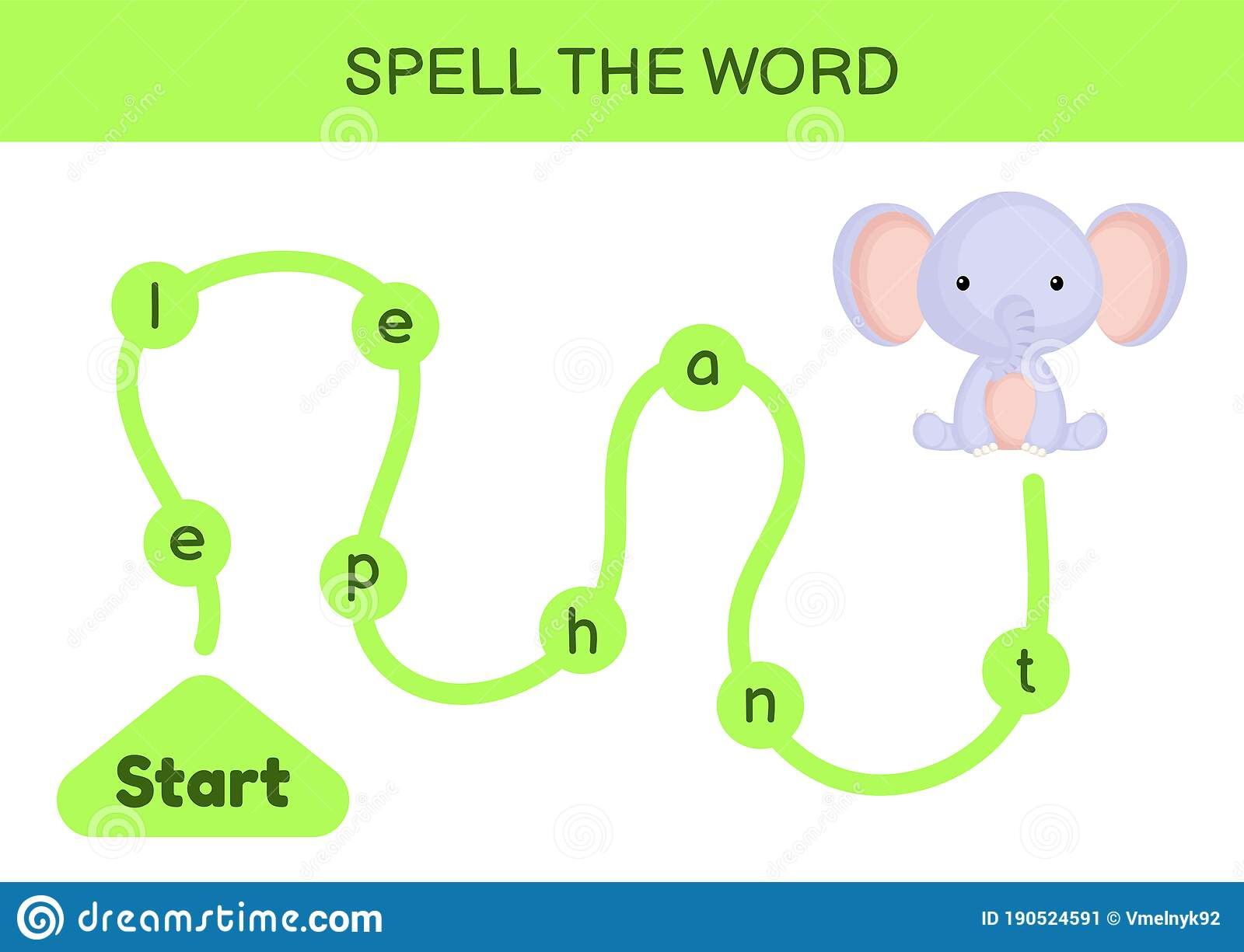 Maze For Kids Spelling Word Game Template Learn To Read