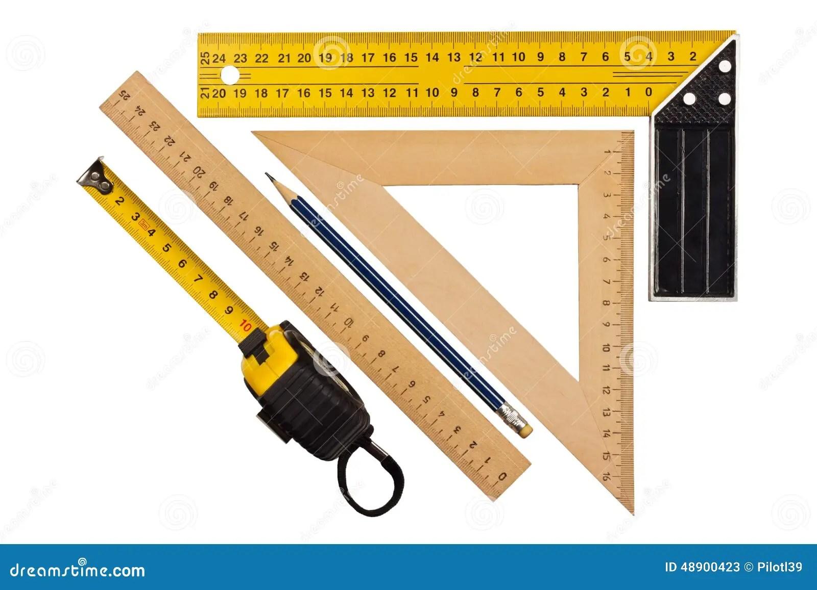 Measuring The Angle And Length Stock Image