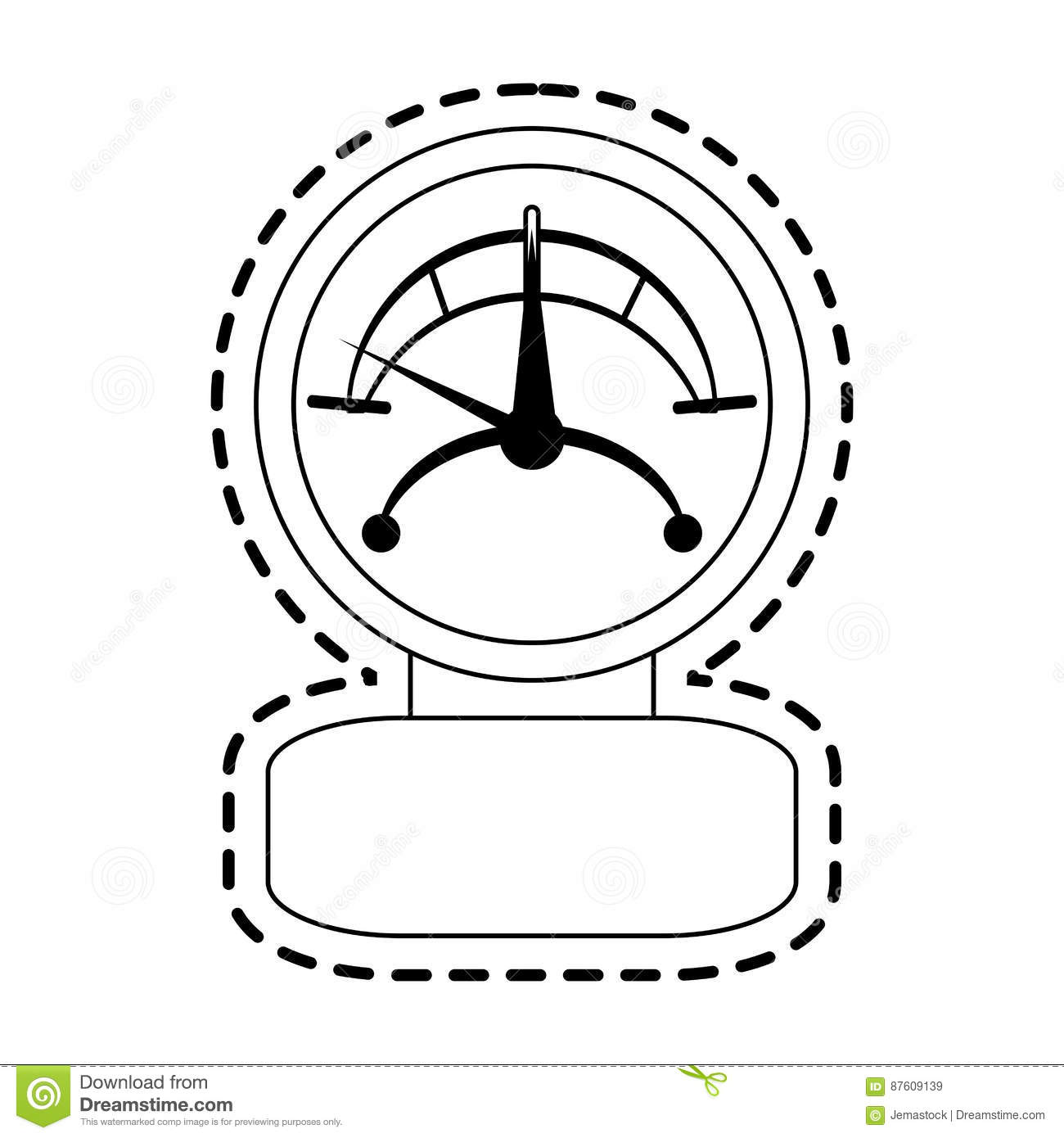 Measuring Gauge Icon Image Stock Vector Illustration Of