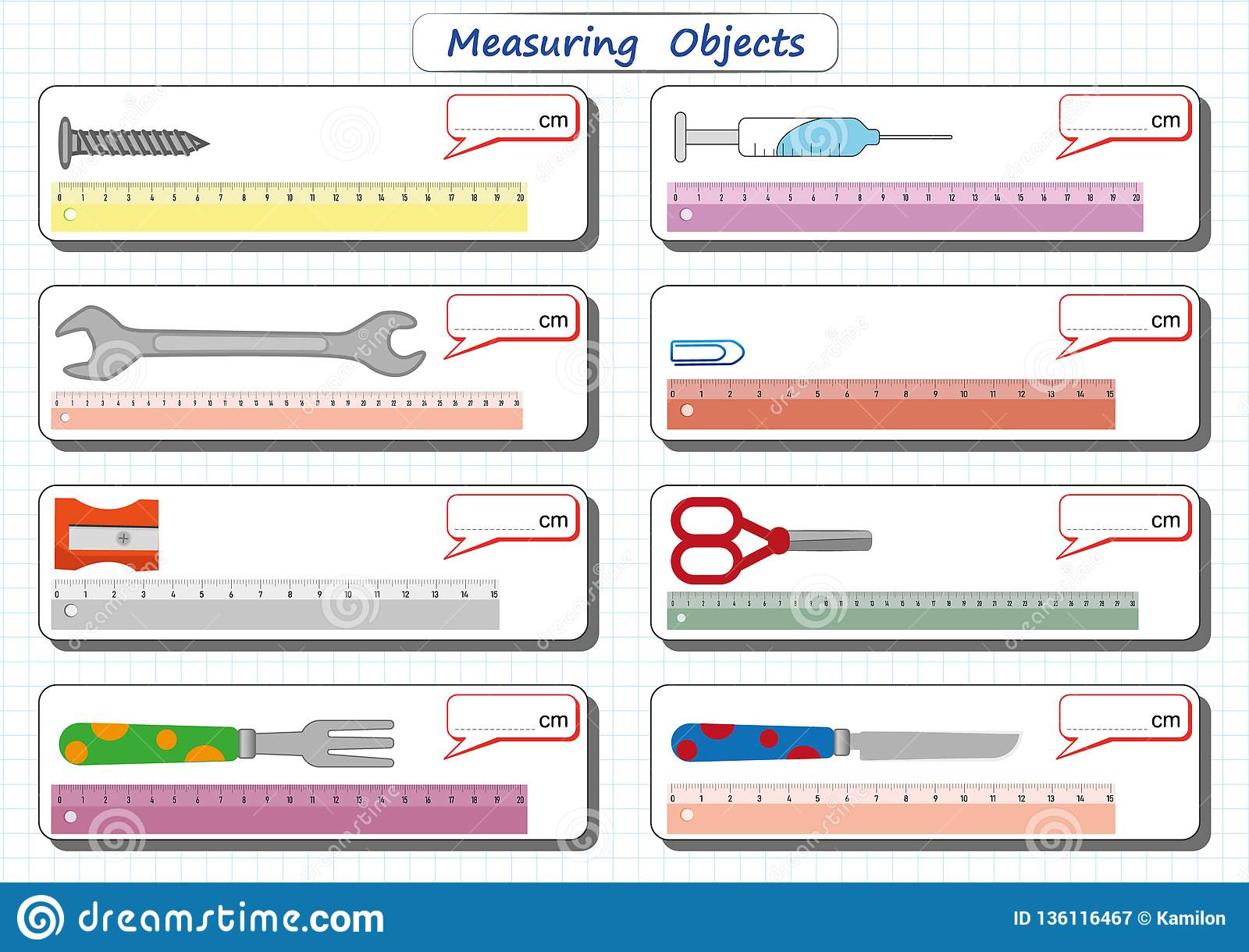 Measuring With Centimeter Ruler Worksheet