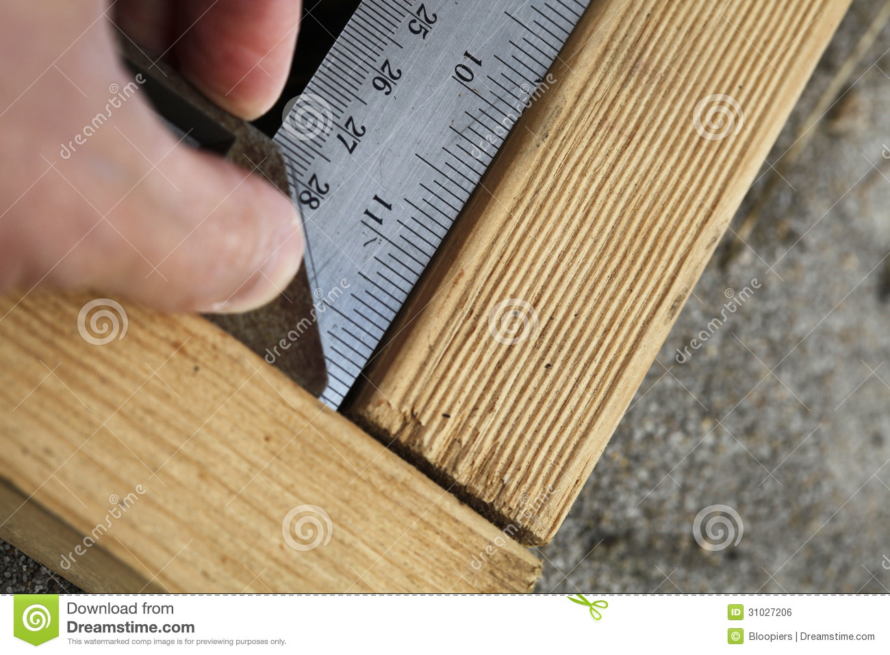 Measuring Right Angle Royalty Free Stock Image