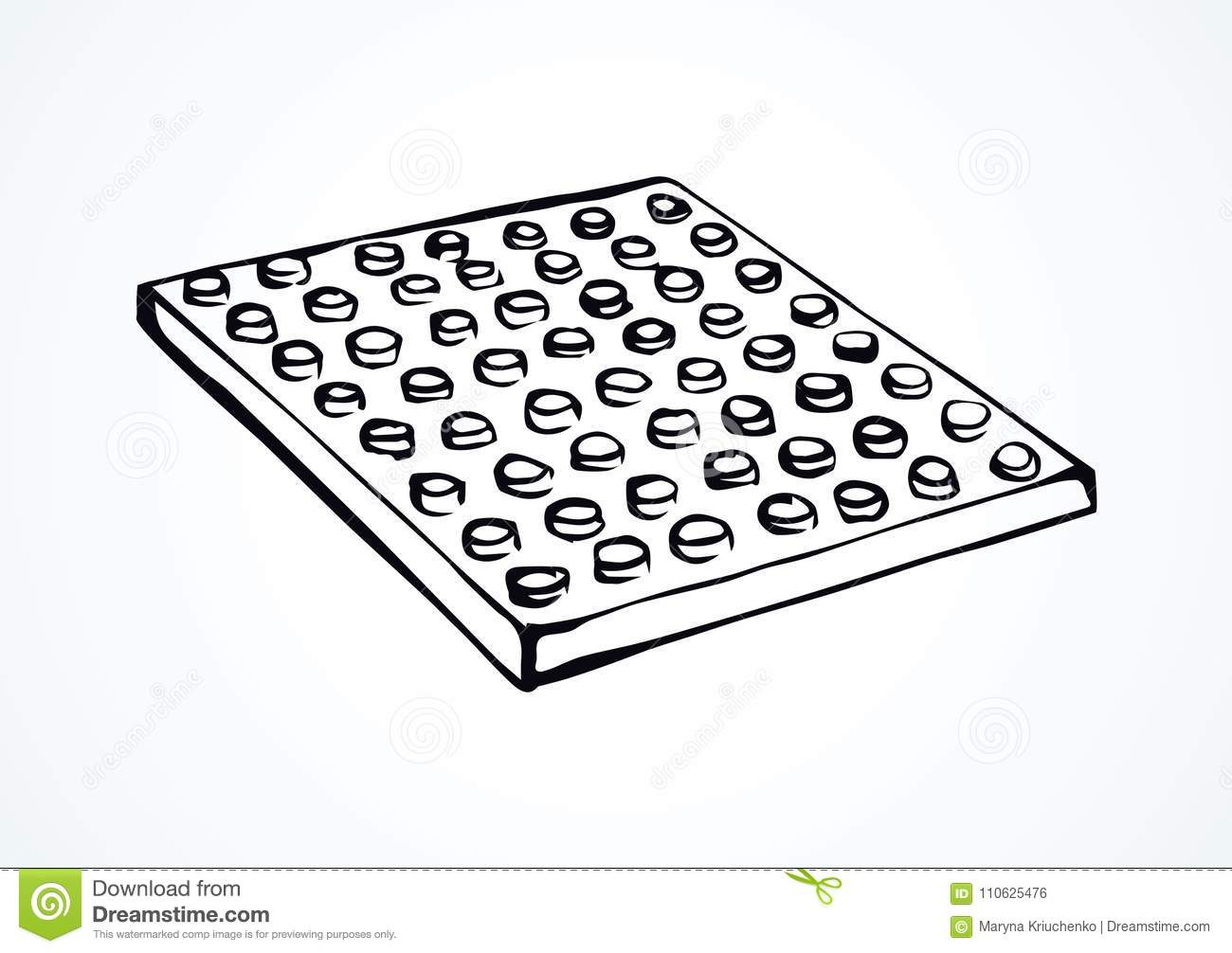 Lego Vector Drawing Stock Vector Illustration Of