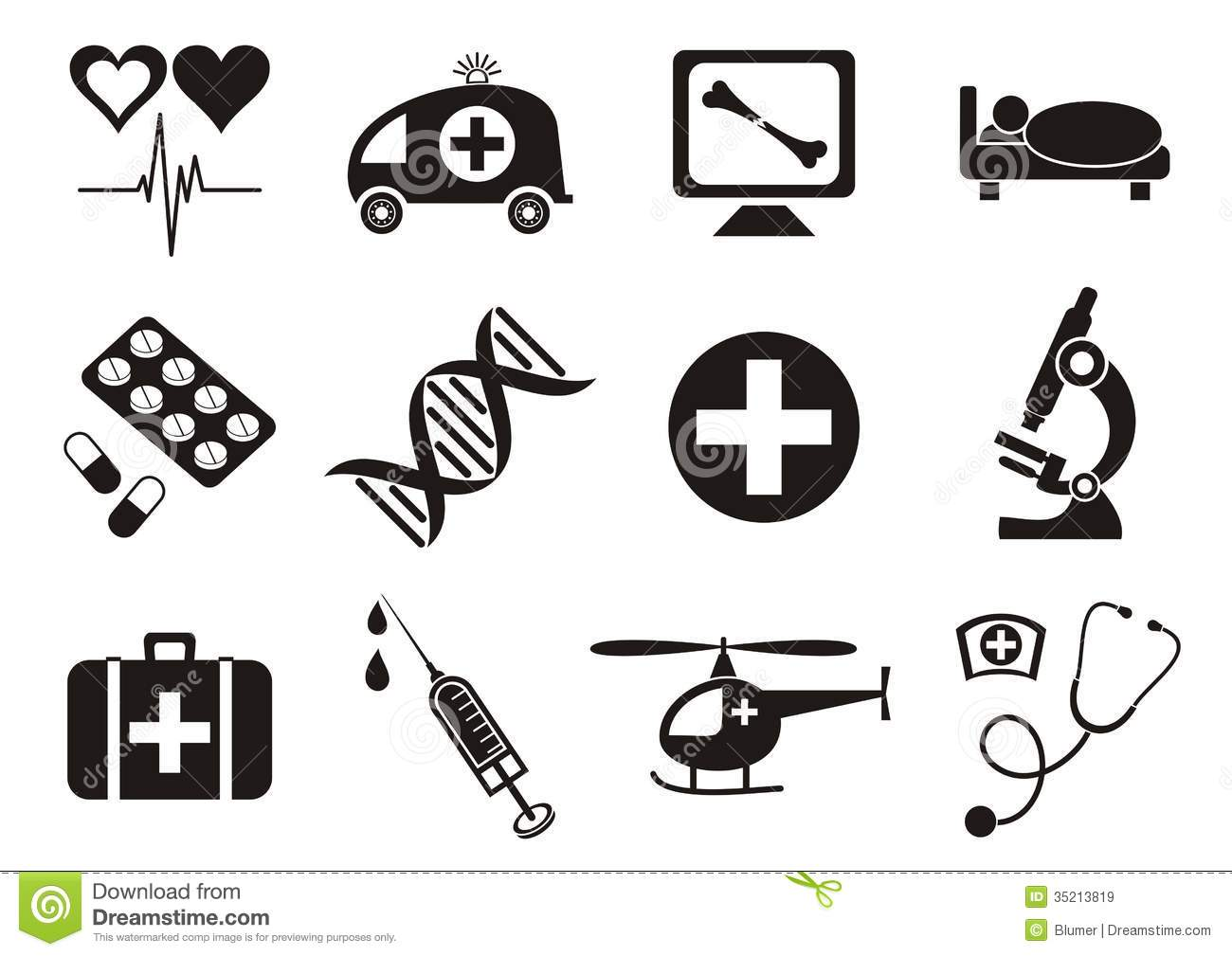 Medical Icons Stock Vector Illustration Of Design Blood