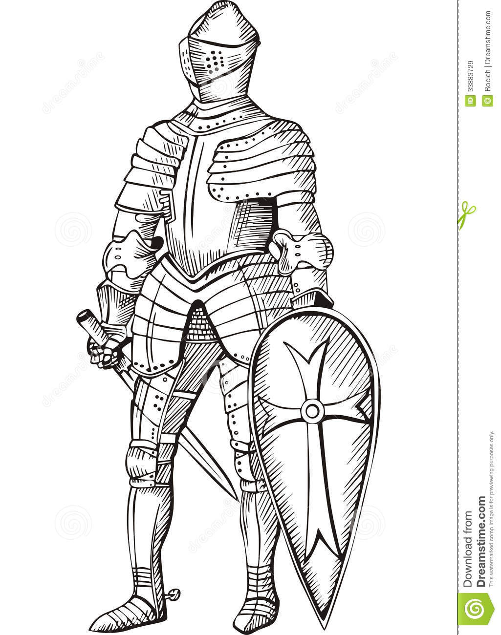 Me Val Knight Royalty Free Stock Images
