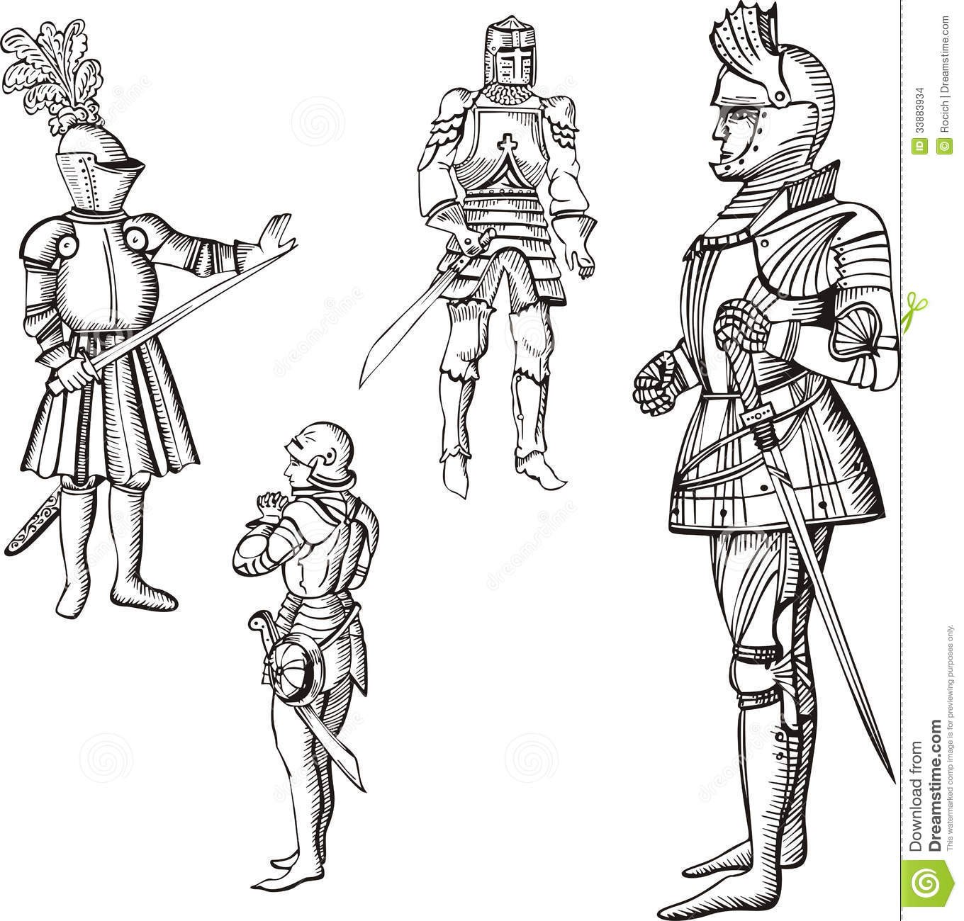Me Val Knights Stock Images