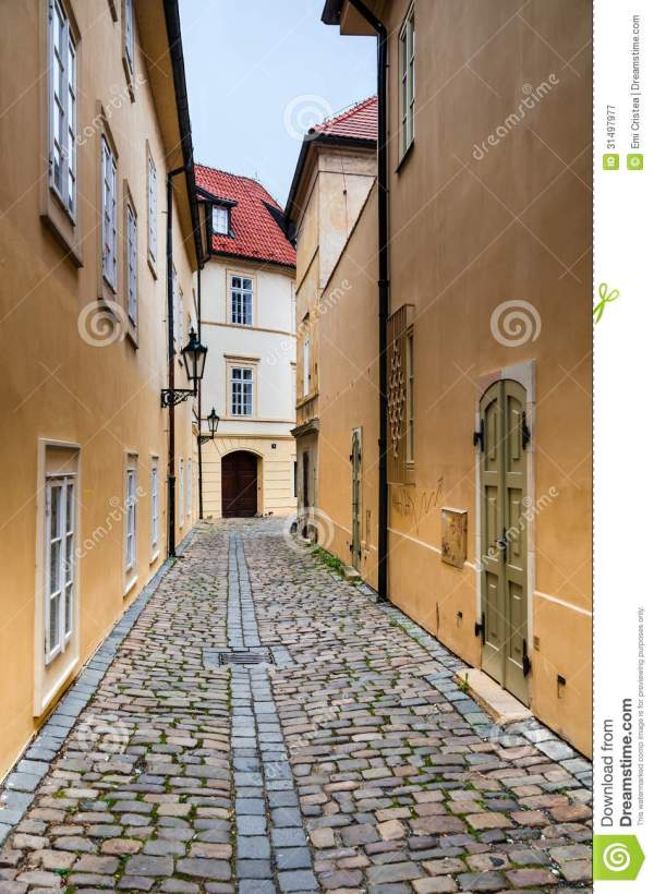 Medieval Street In Prague Royalty Free Stock Photography ...