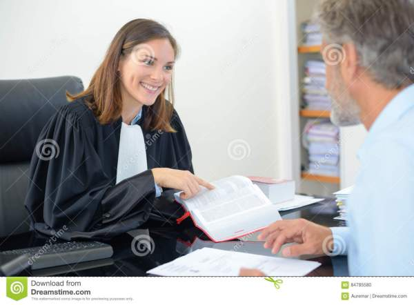 Meeting At Lawyer`s Office Stock Photo - Image: 84785580