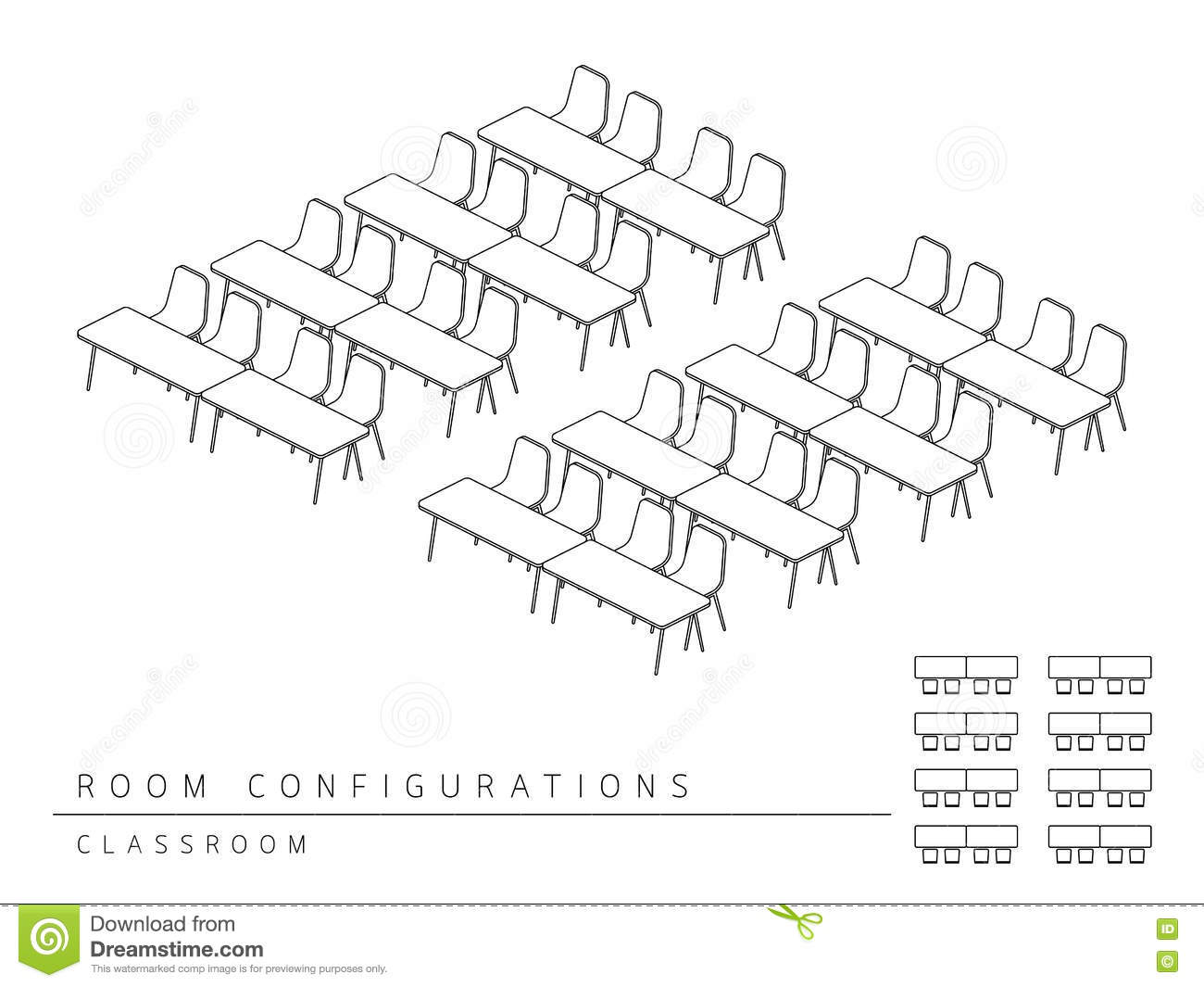Meeting Room Setup Layout Configuration Classroom Style