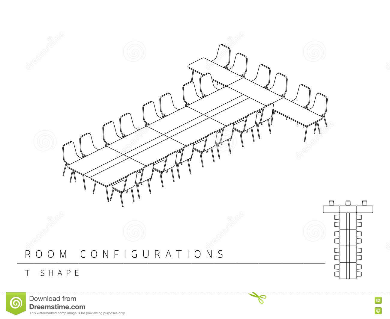 Meeting Room Setup Layout Configuration T Shape Style