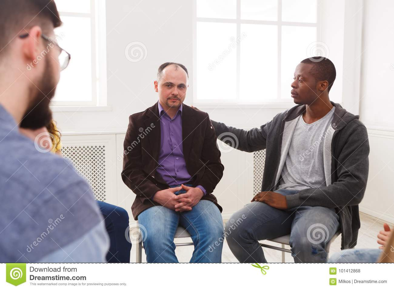 Meeting Of Support Group Therapy Session Stock Photo