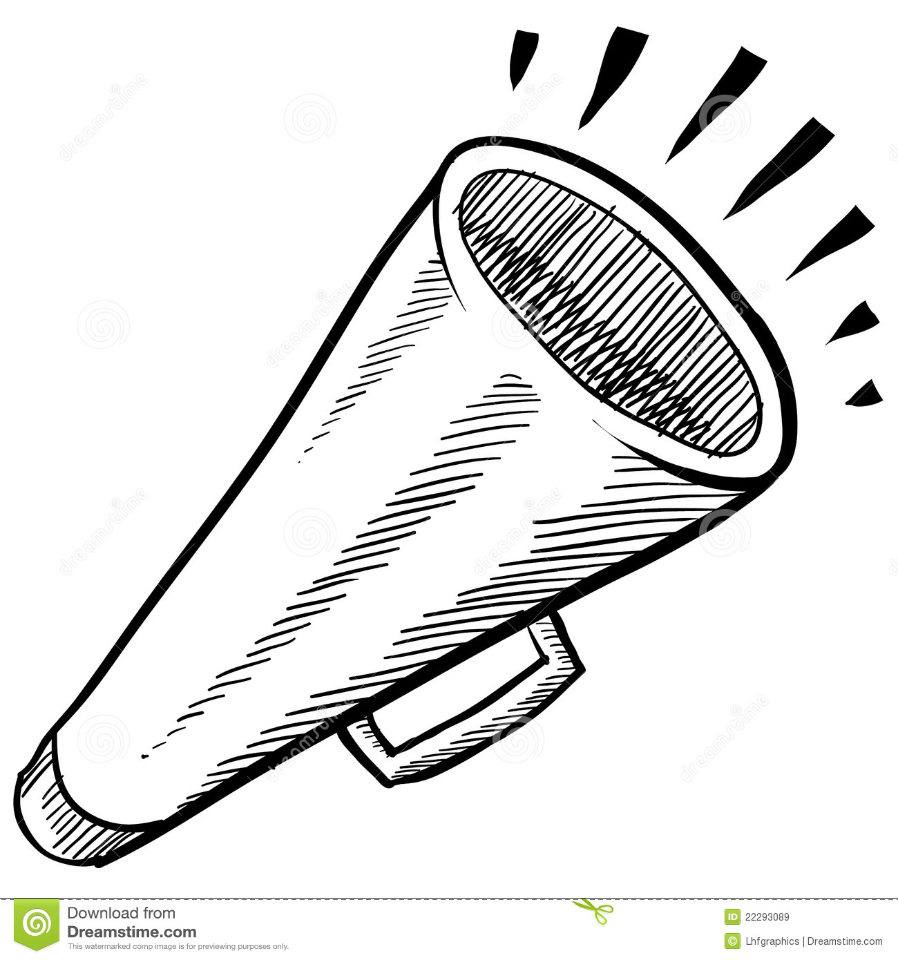 Megaphone Or Announcement Illustration Royalty Free Stock