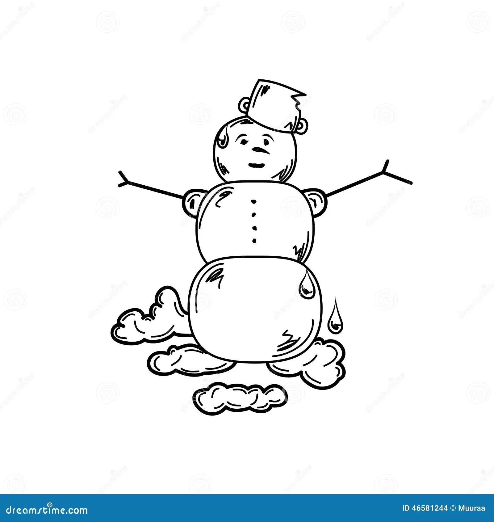 Melting Snowman Stock Vector