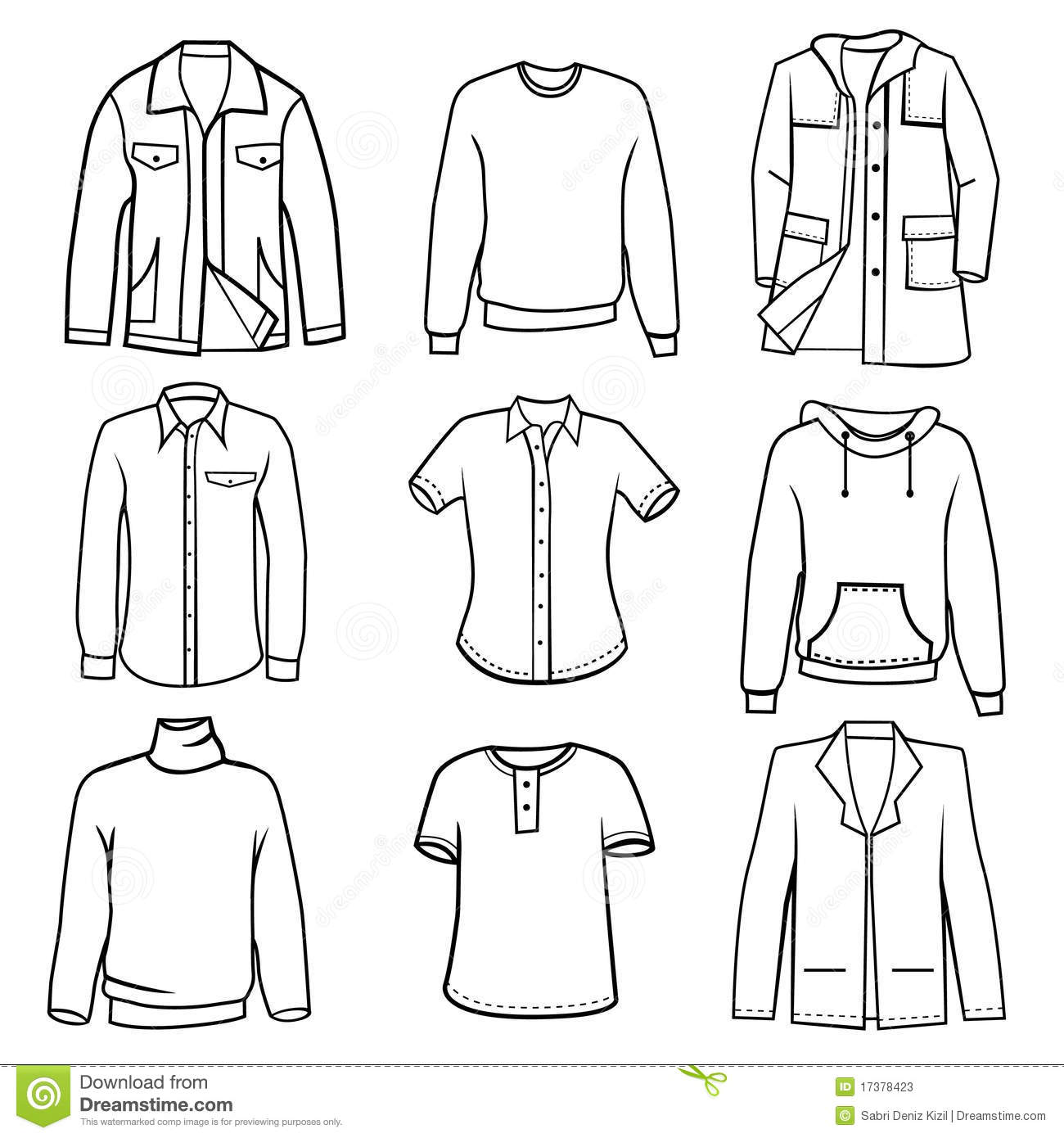 Men S Clothes Stock Vector Illustration Of Illustration