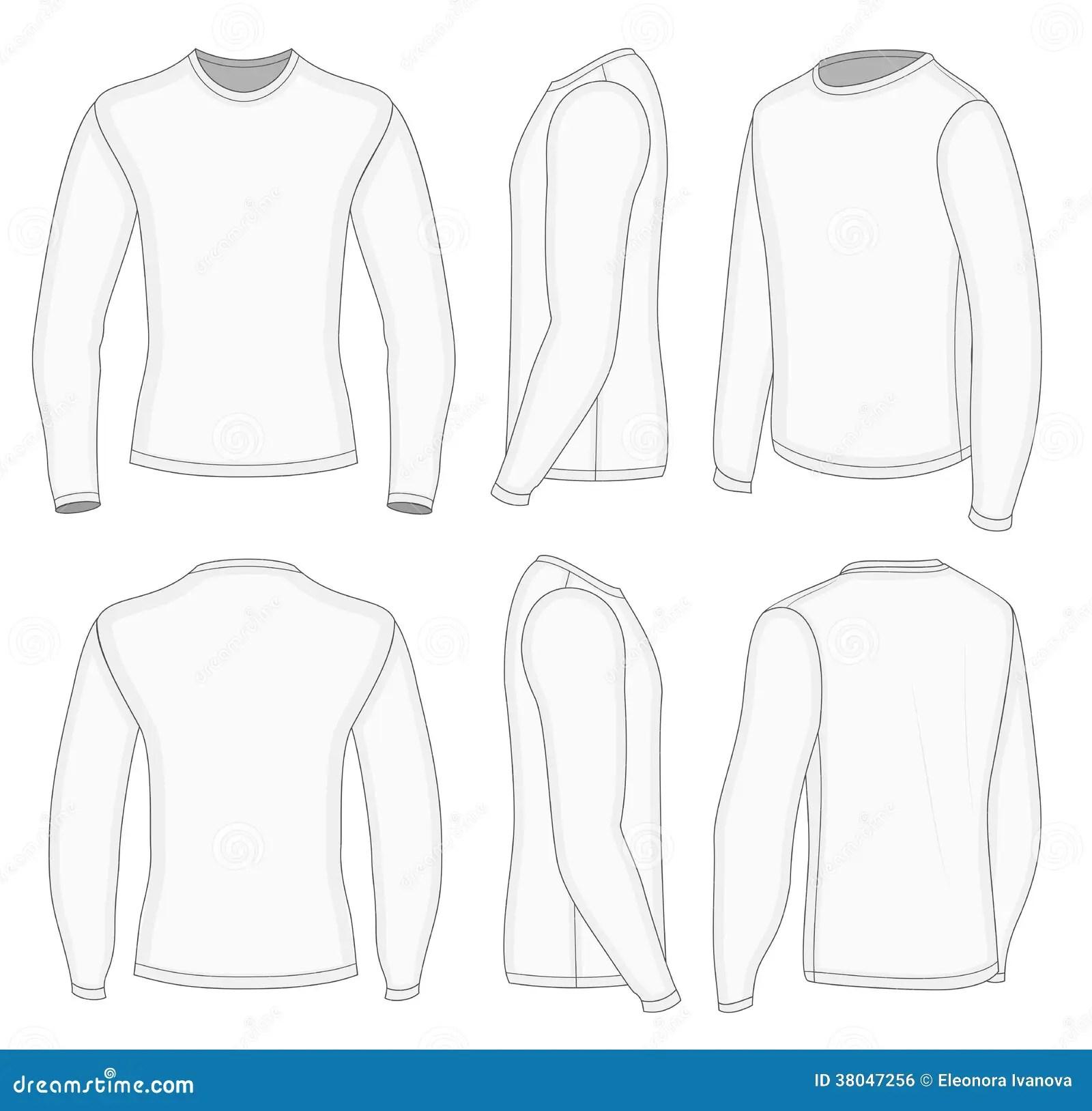 Men S White Long Sleeve T Shirt Royalty Free Stock Image