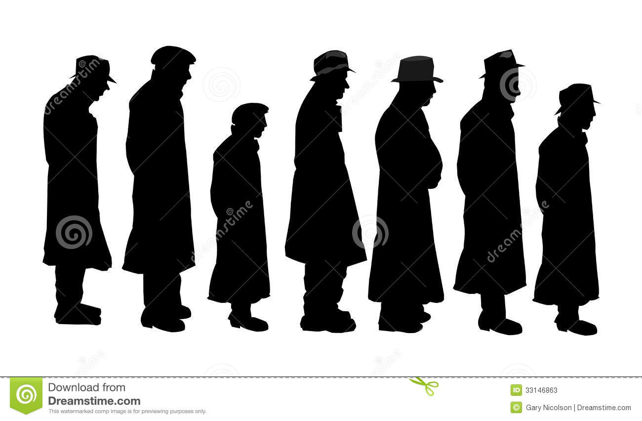 Men In Silhouette Stock Image Image Of Line Abstract