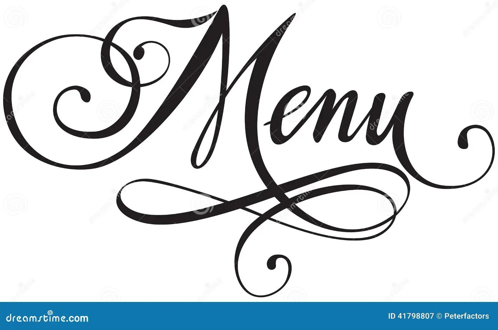 Menu Stock Vector Illustration Of Written Typescript