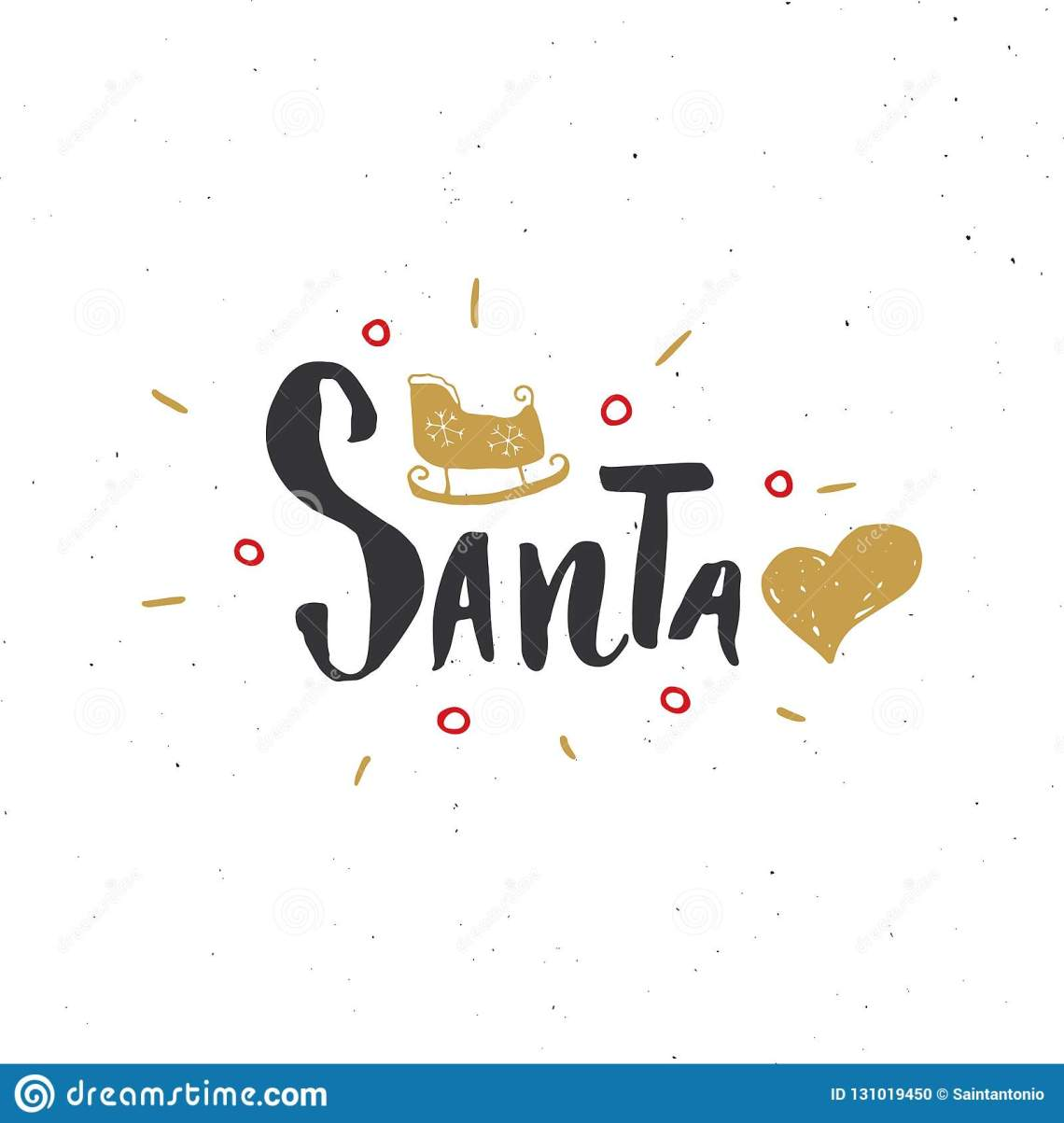 Download Merry Christmas Calligraphic Lettering I Love Santa ...