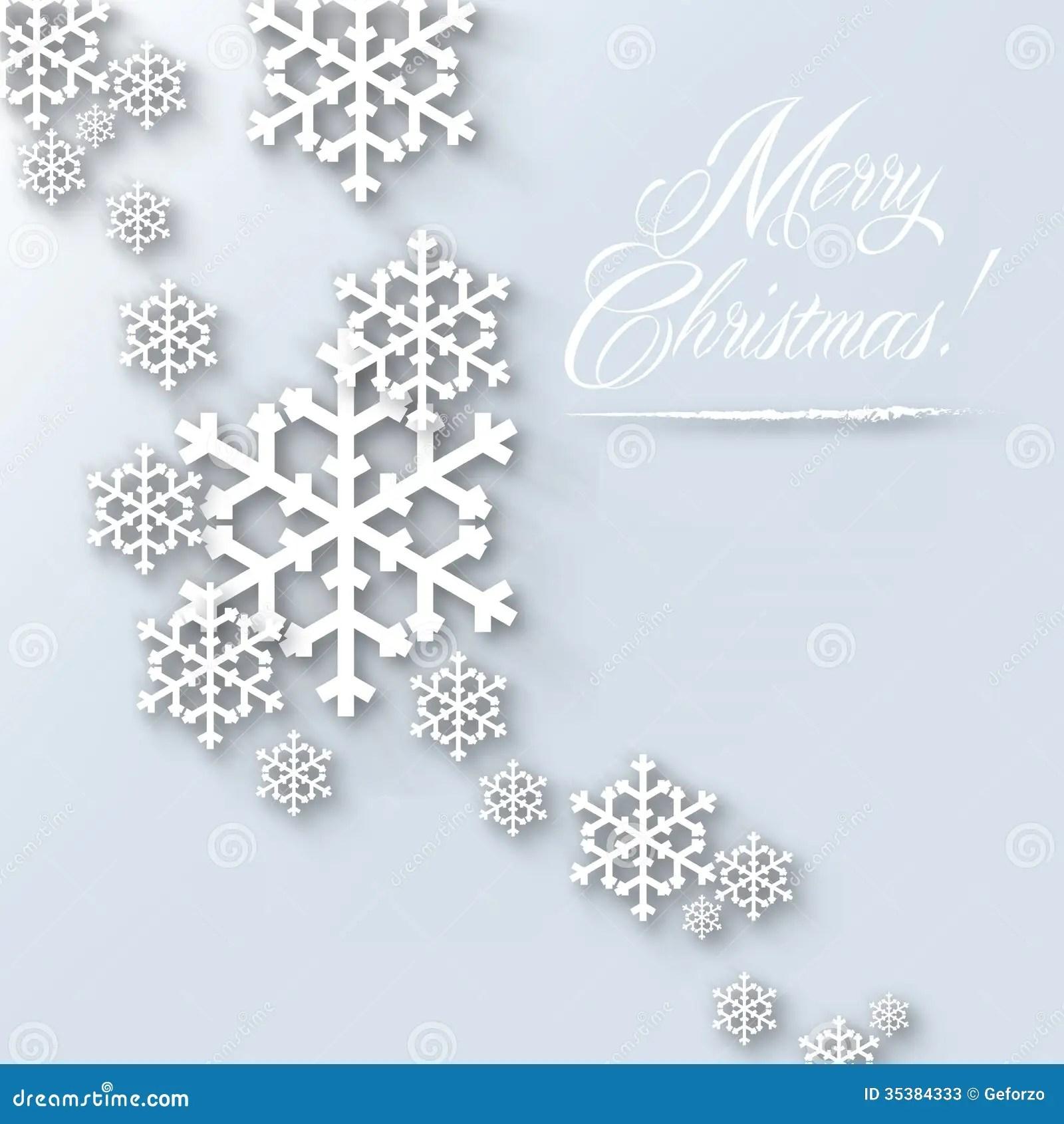 Merry Christmas Card Light Stock Illustration