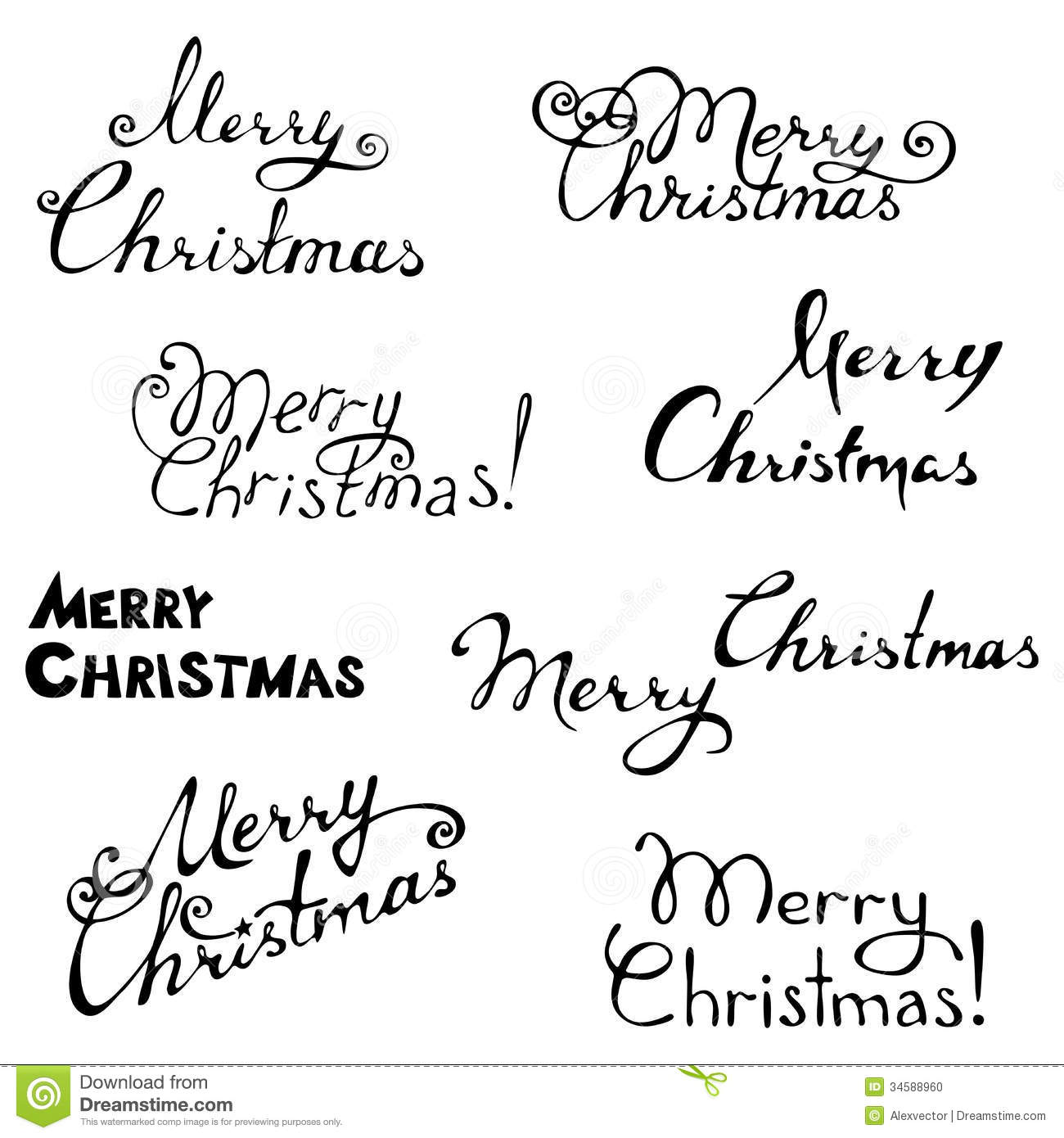 Merry Christmas Stock Vector Illustration Of Black