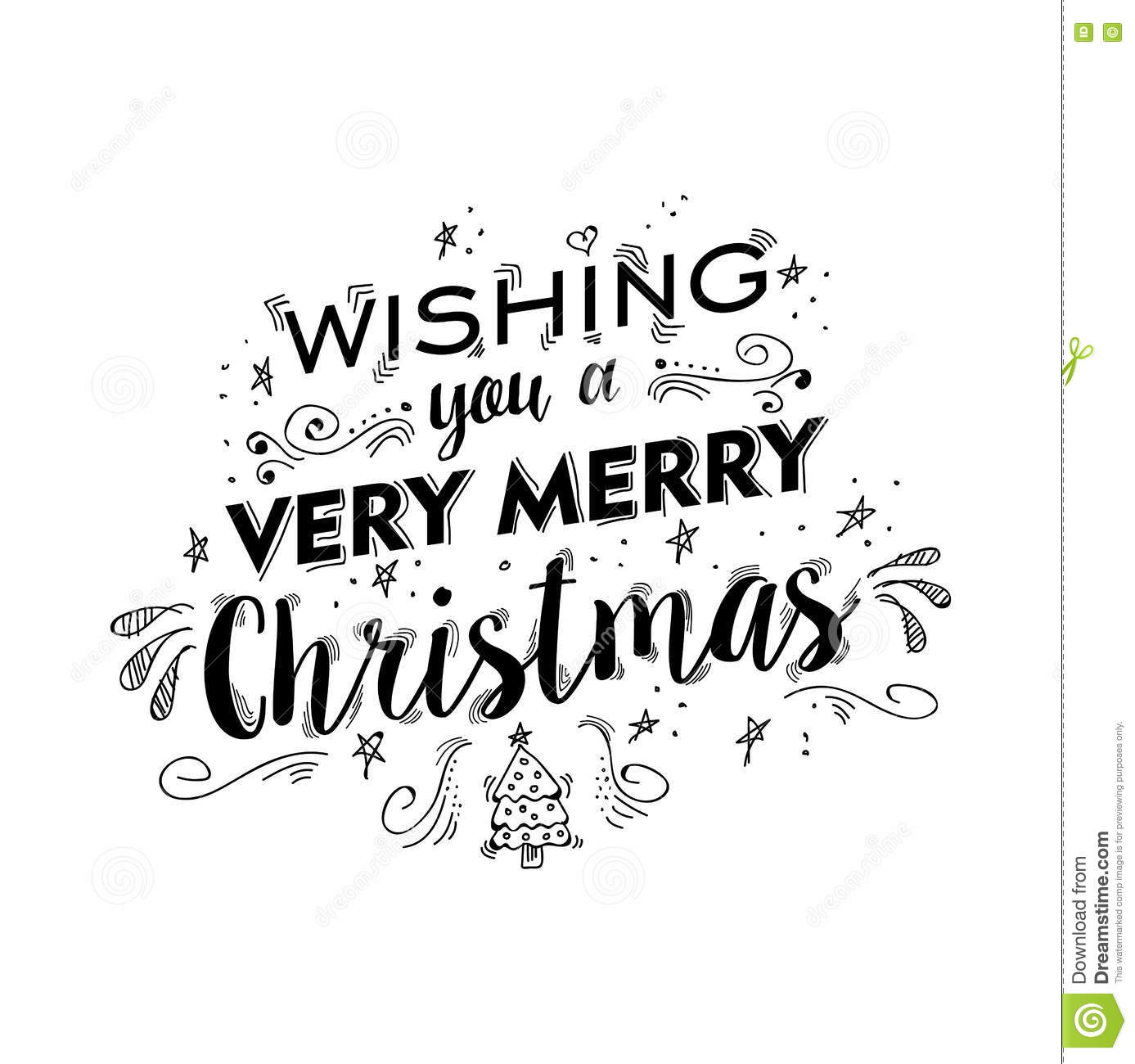 Christmas Text Quote Lettering Tree Illustration Vector