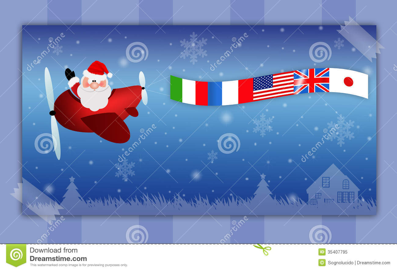 Merry Christmas Stock Illustration Illustration Of Claus
