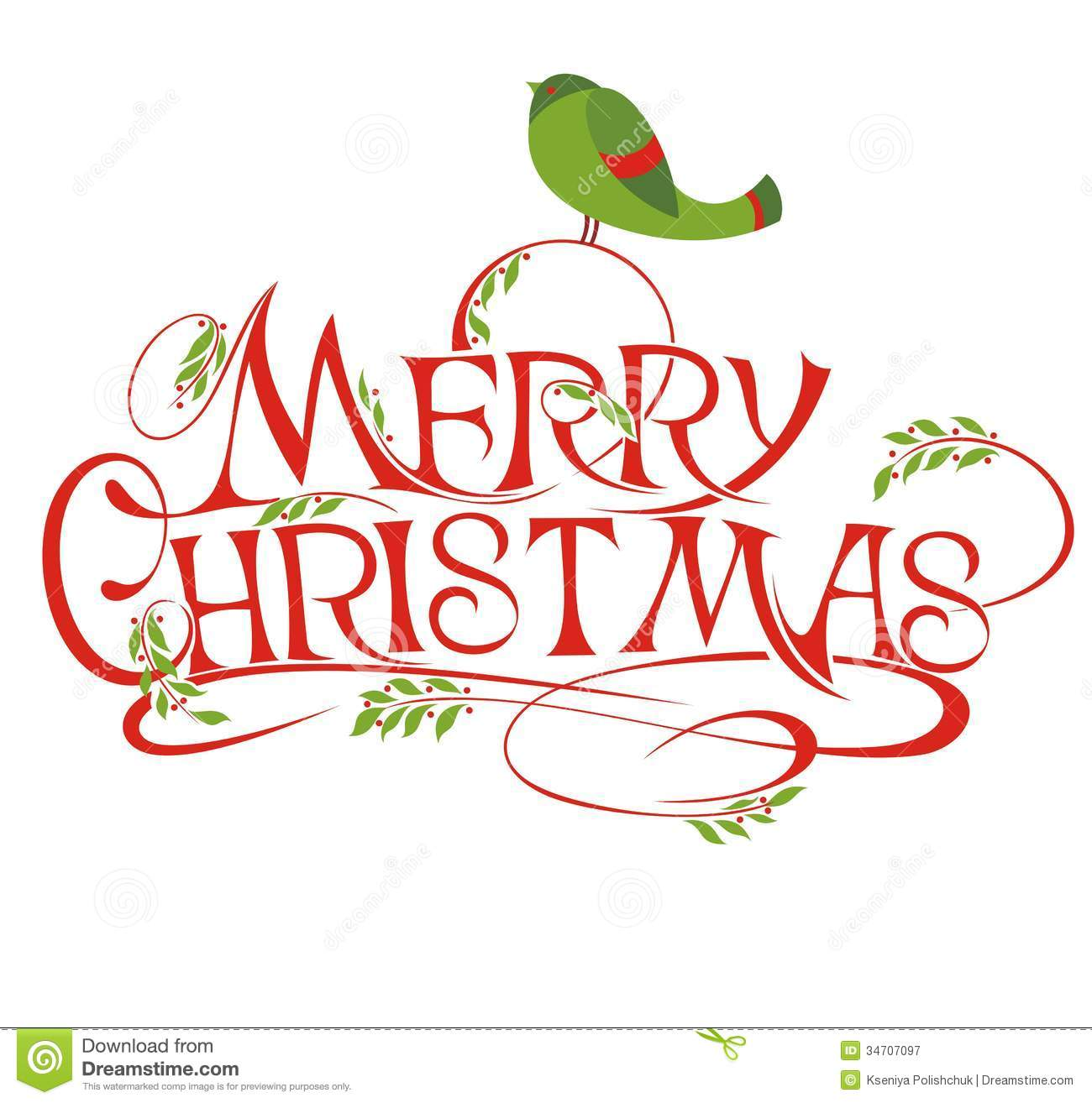 Merry Christmas Stock Vector Image Of Year Greeting