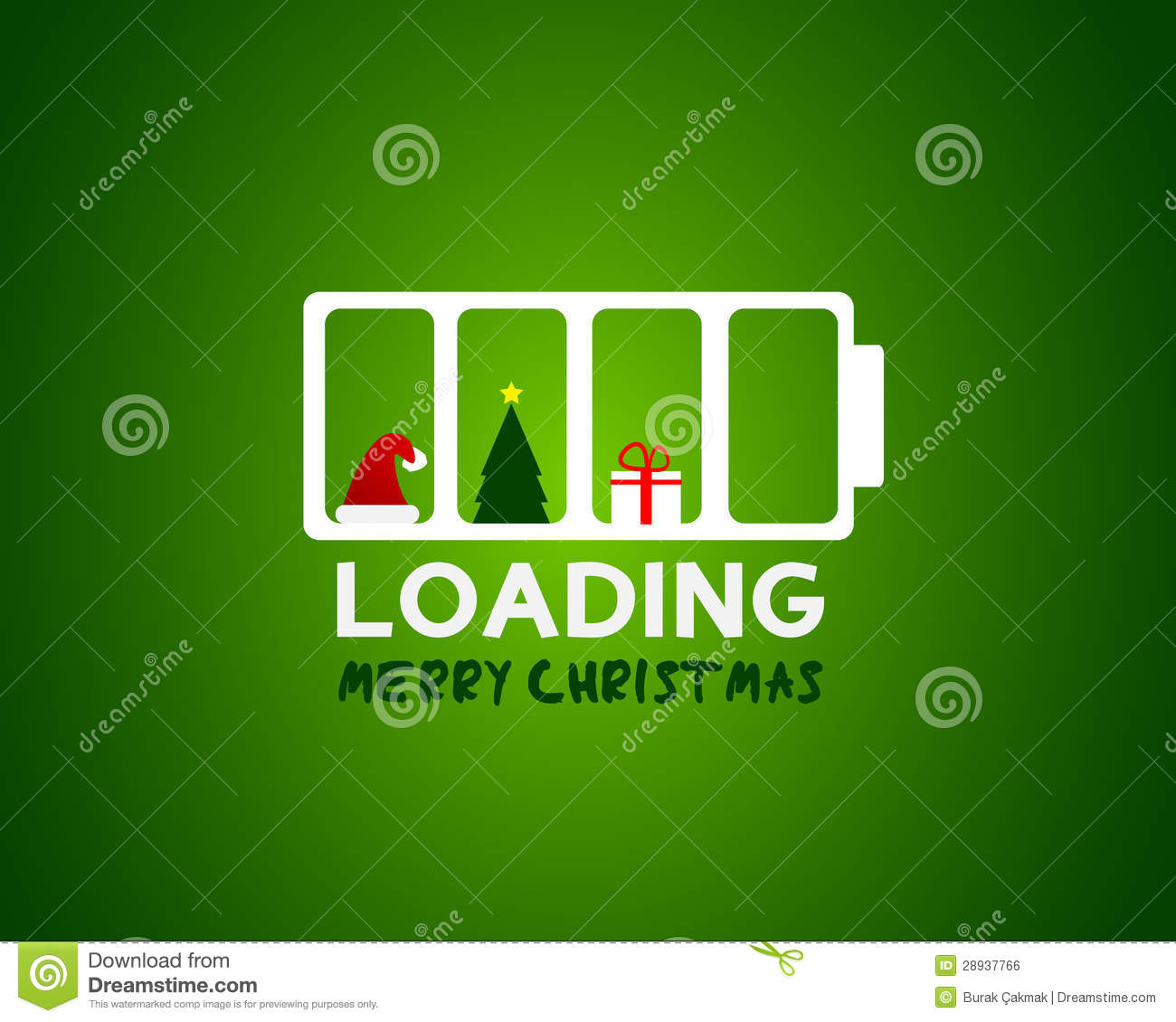 Merry Christmas Web Sale Loading Concept Royalty Free