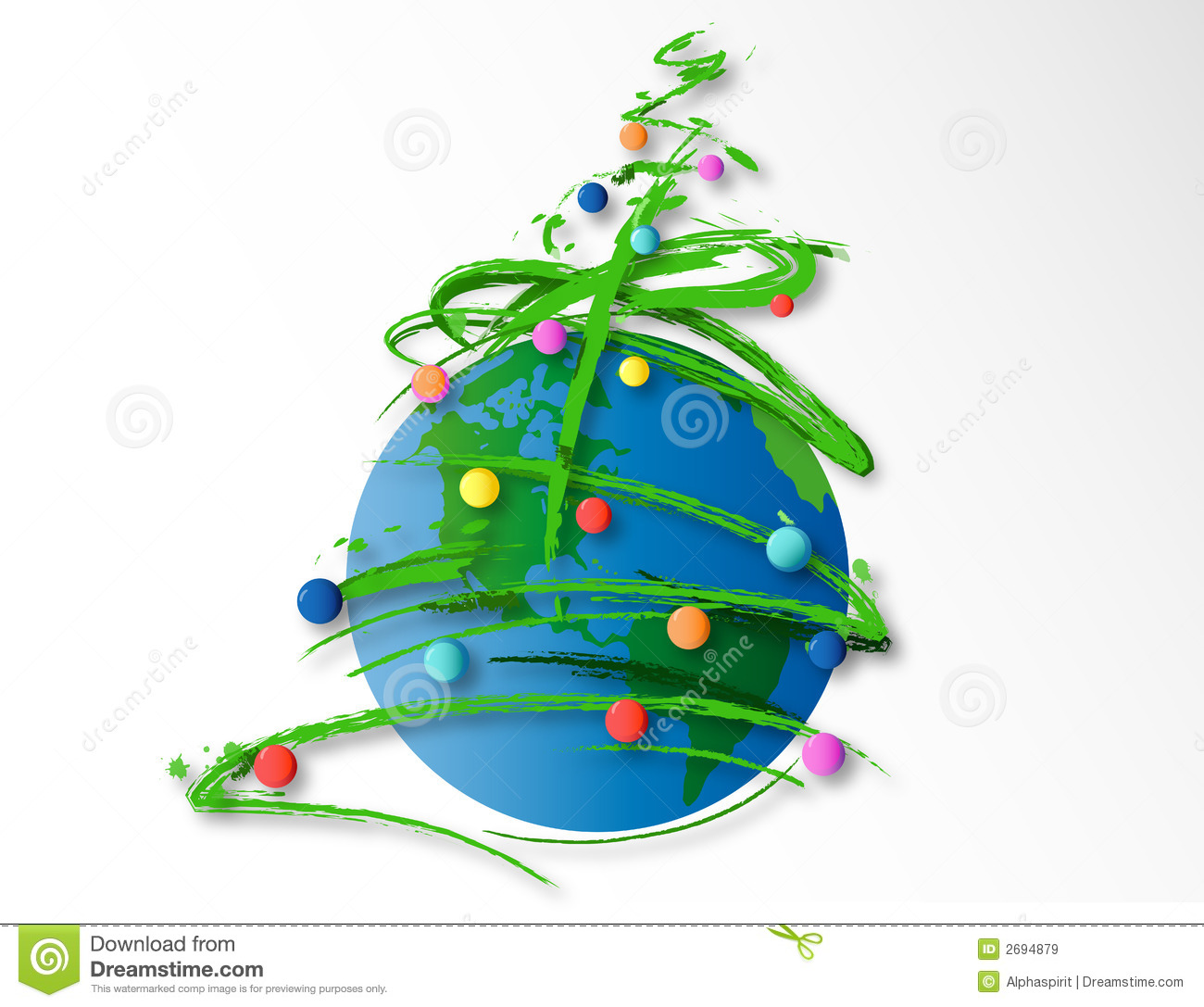 Merry Global Christmas Royalty Free Stock Images Image